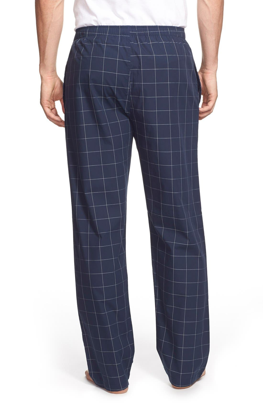 Cotton Pajama Pants,                             Alternate thumbnail 2, color,                             CRUISE NAVY