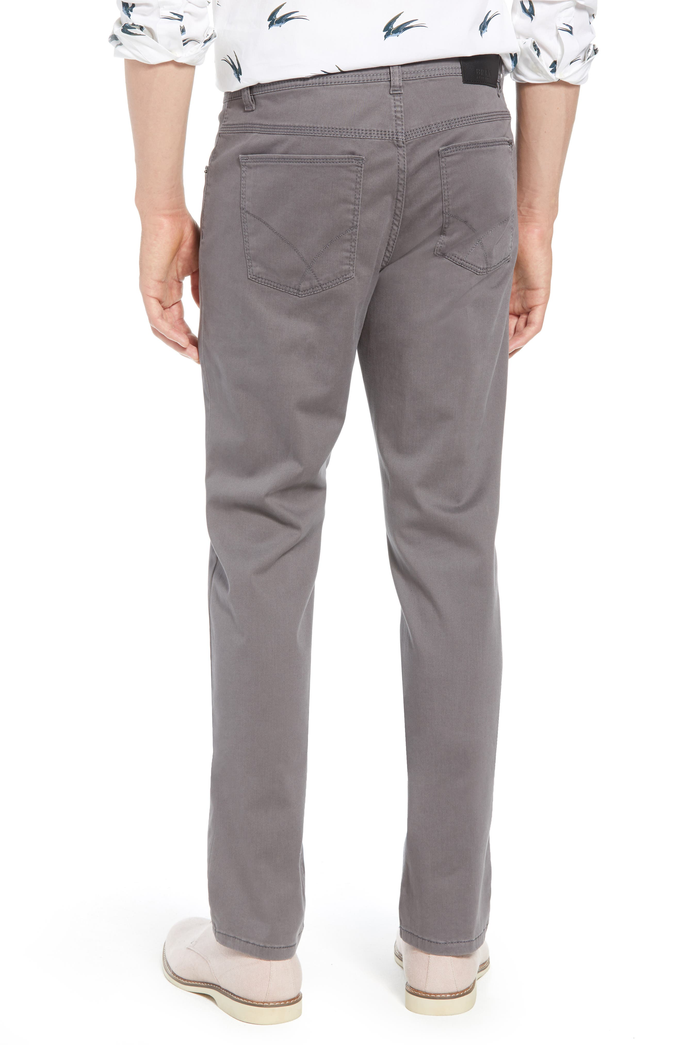 BRAX,                             Cooper Prestige Stretch Cotton Pants,                             Alternate thumbnail 2, color,                             GRAPHITE