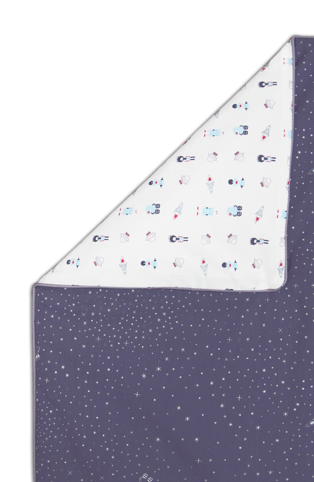 'Galaxy' Crib Sheet, Crib Skirt, Changing Pad Cover, Play Blanket & Wall Decals,                             Alternate thumbnail 3, color,                             020