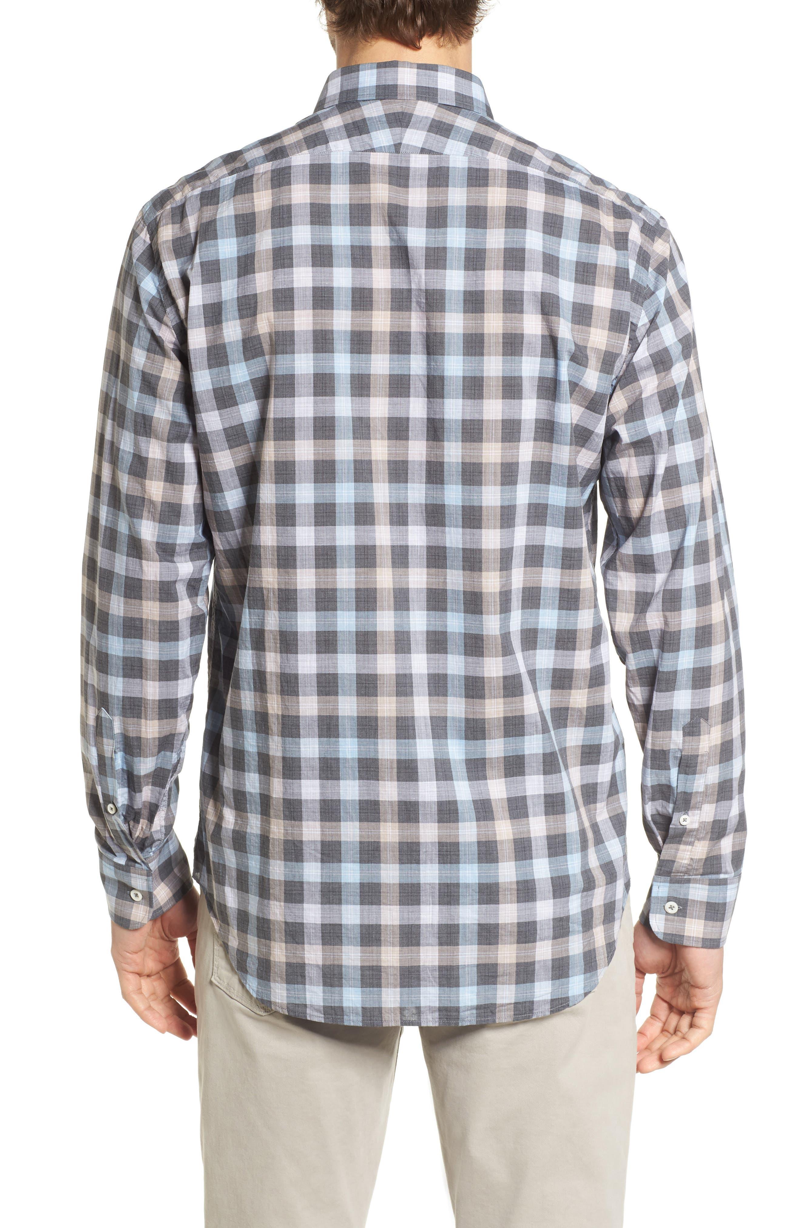 John T Standard Fit Check Sport Shirt,                             Alternate thumbnail 2, color,                             400