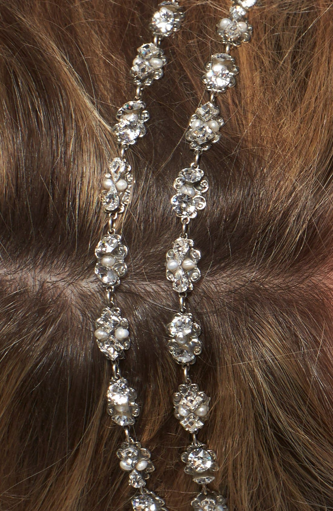 'Rose' Two Strand Filigree Hair Ribbon,                             Alternate thumbnail 5, color,                             904