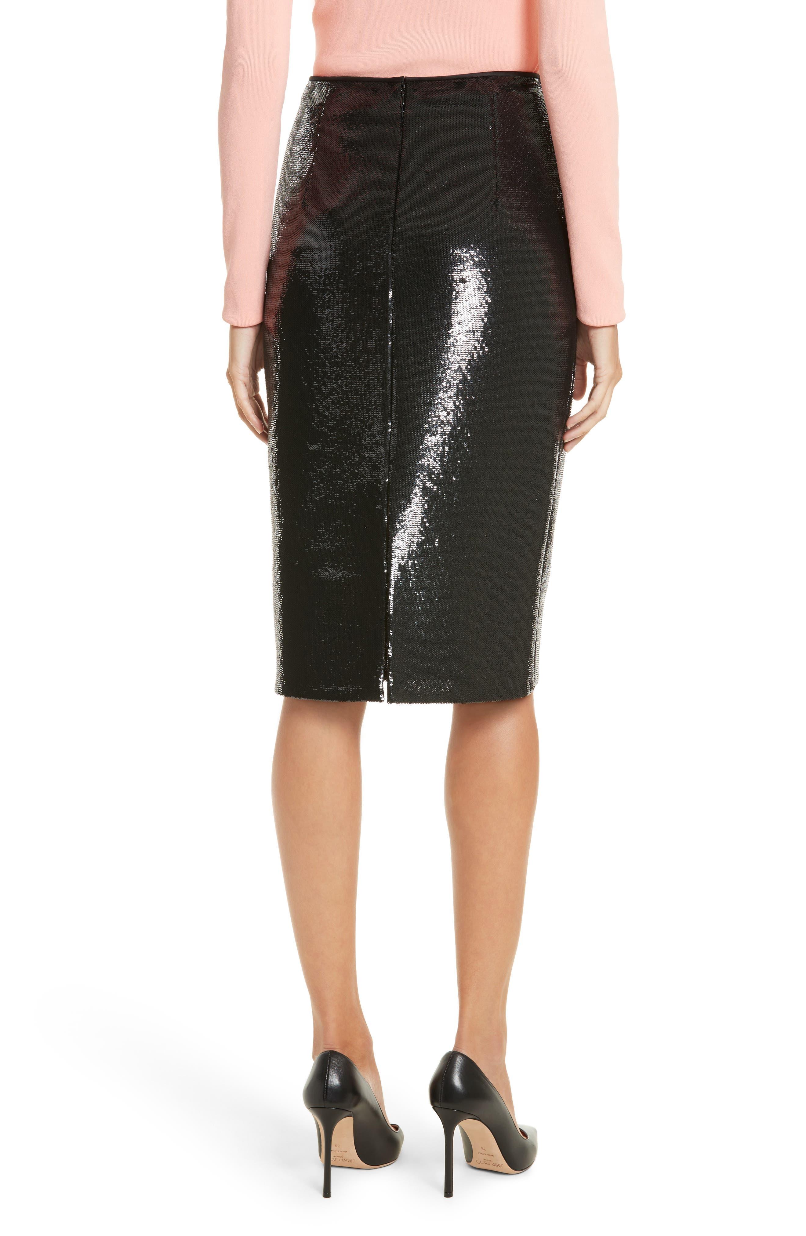 Diane von Furstenberg Sequin Pencil Skirt,                             Alternate thumbnail 2, color,                             001