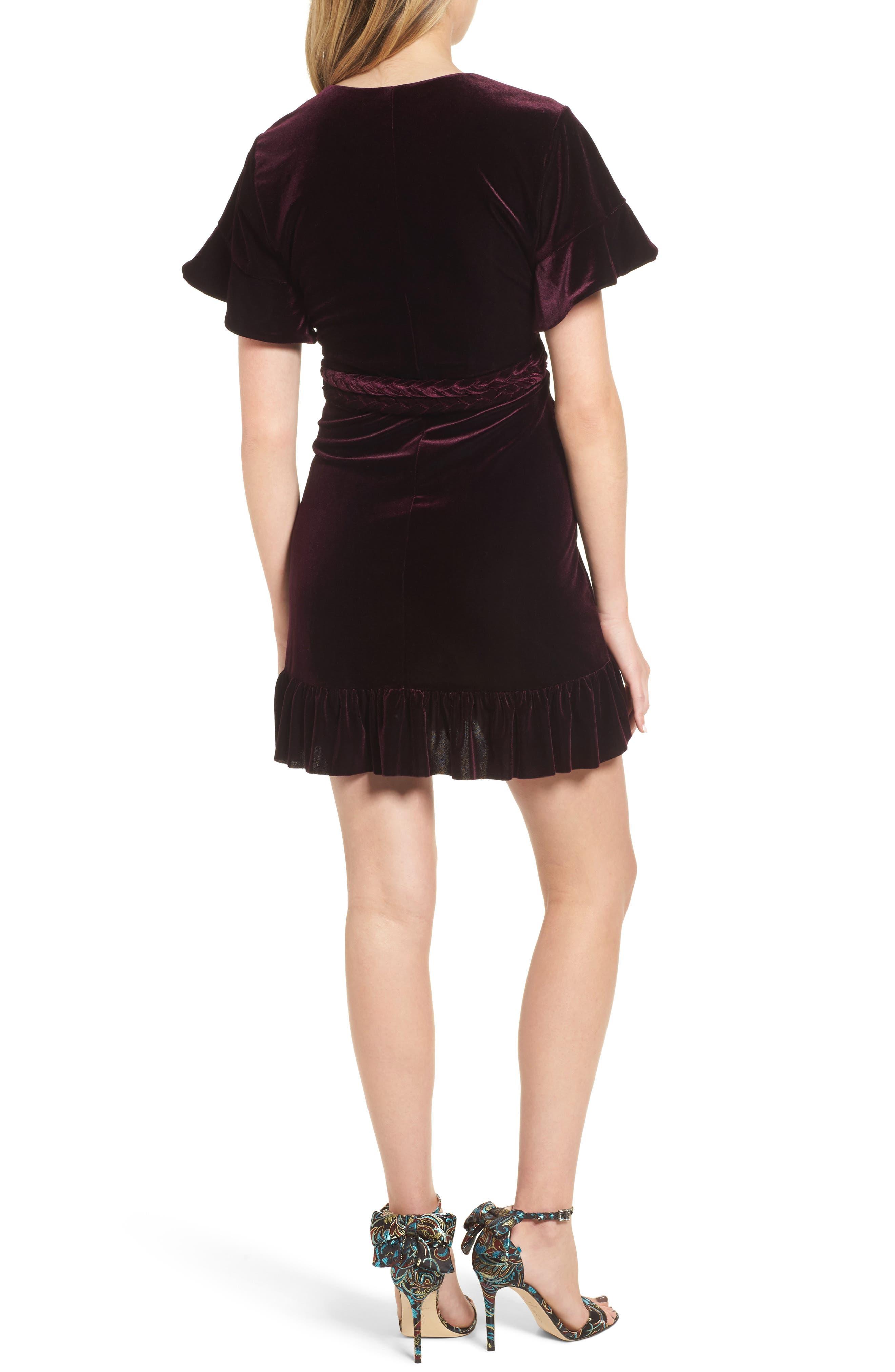 Desma Velvet Wrap Dress,                             Alternate thumbnail 2, color,                             505
