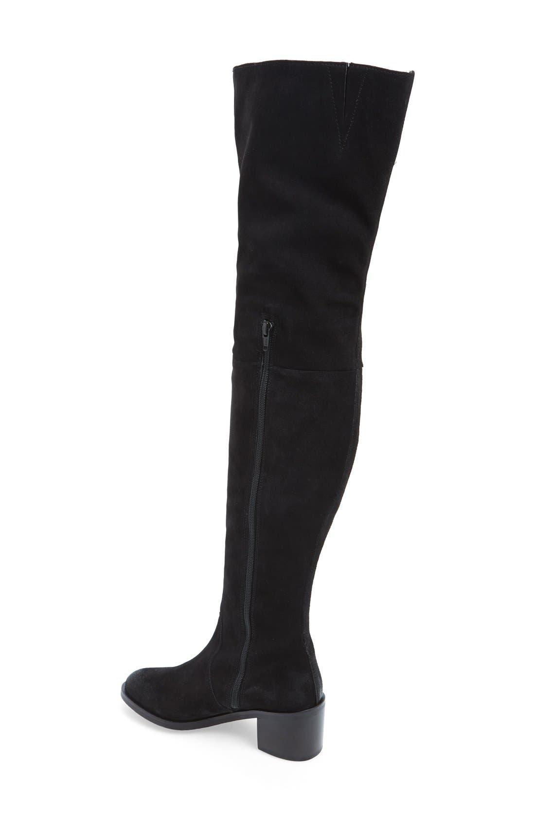 'Sardonyx' Thigh High Boot,                             Alternate thumbnail 4, color,                             001