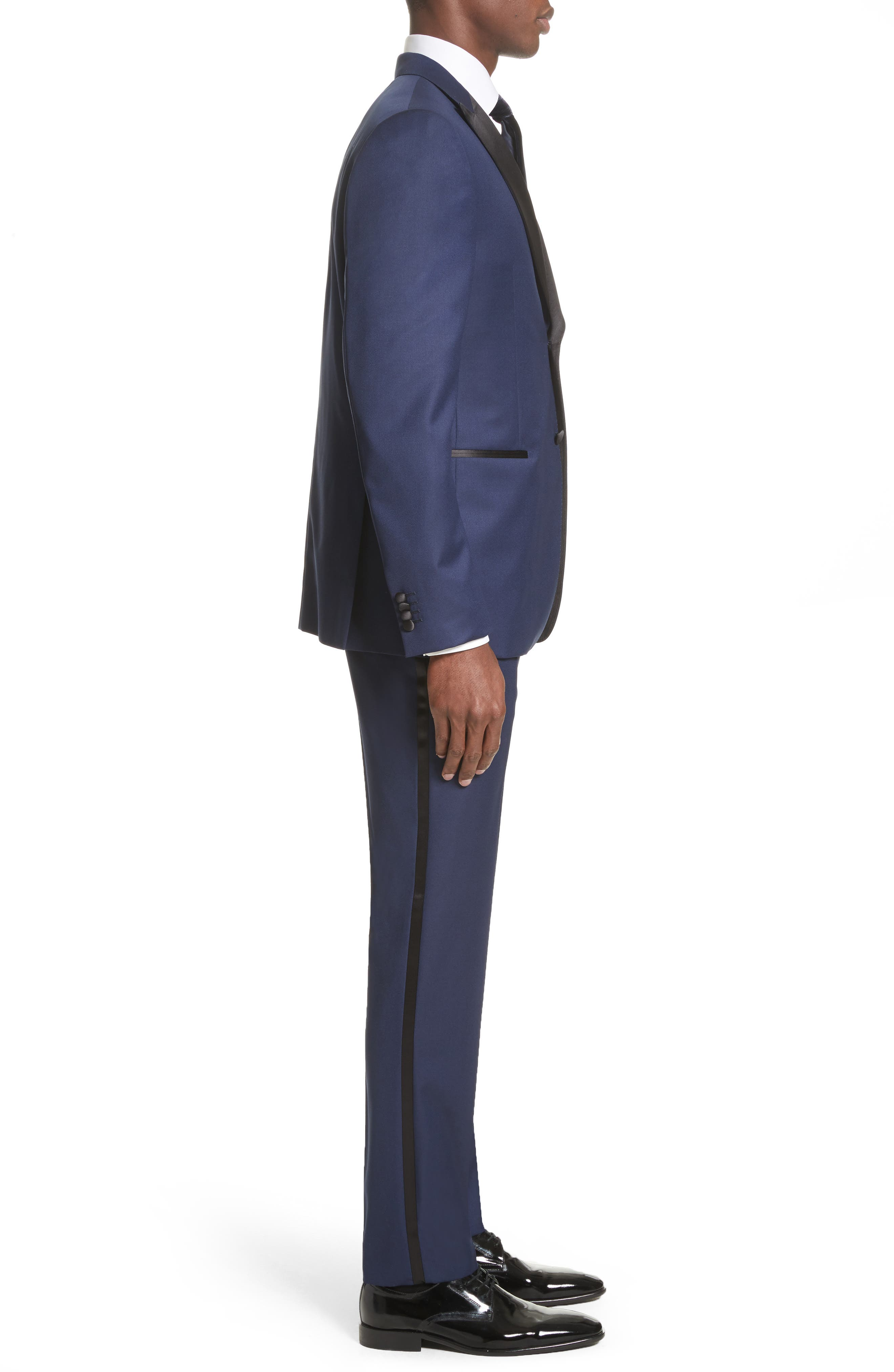 Slim Fit Wool Tuxedo,                             Alternate thumbnail 3, color,                             412