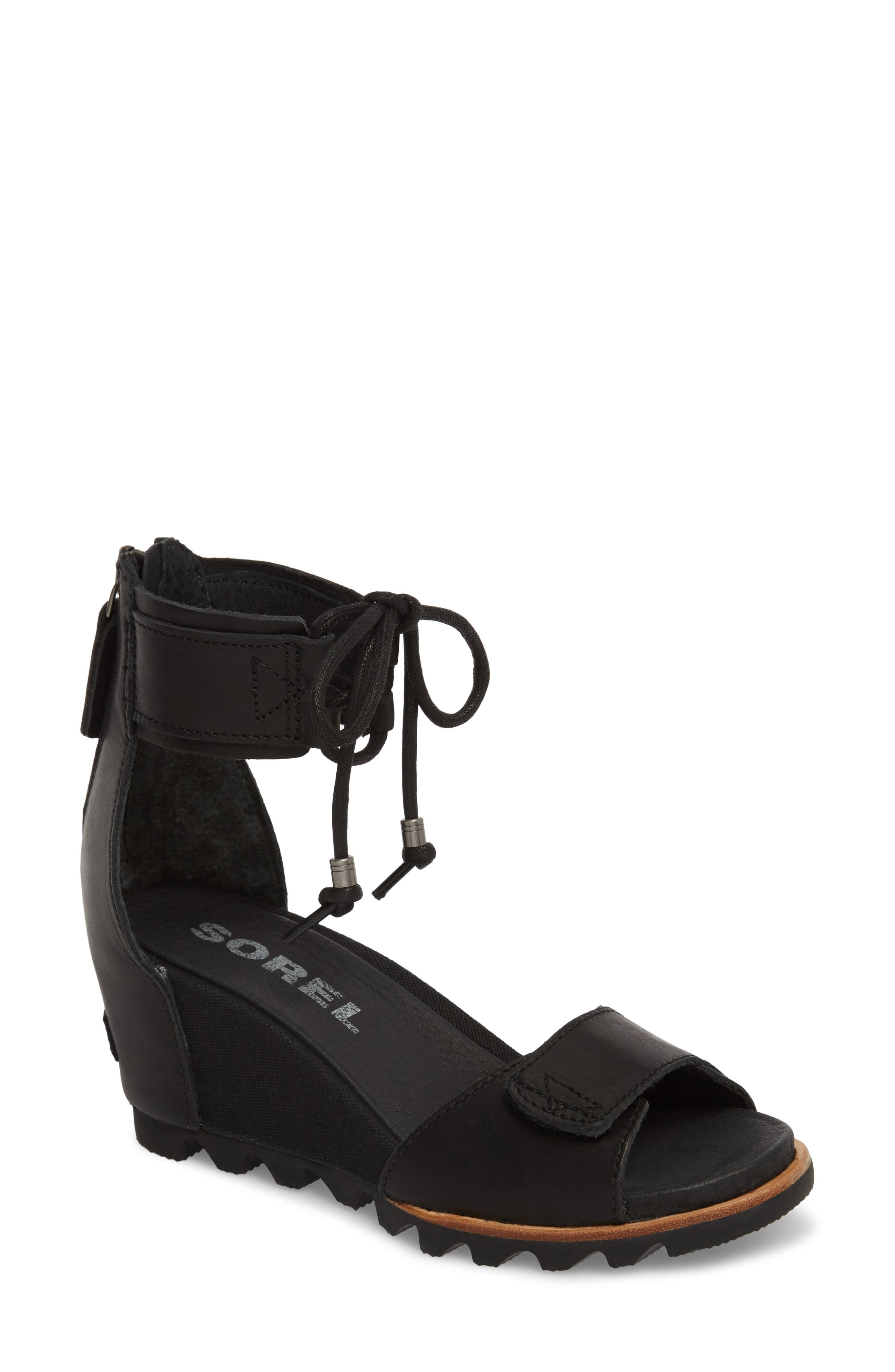 Joanie Cuff Wedge Sandal,                         Main,                         color,