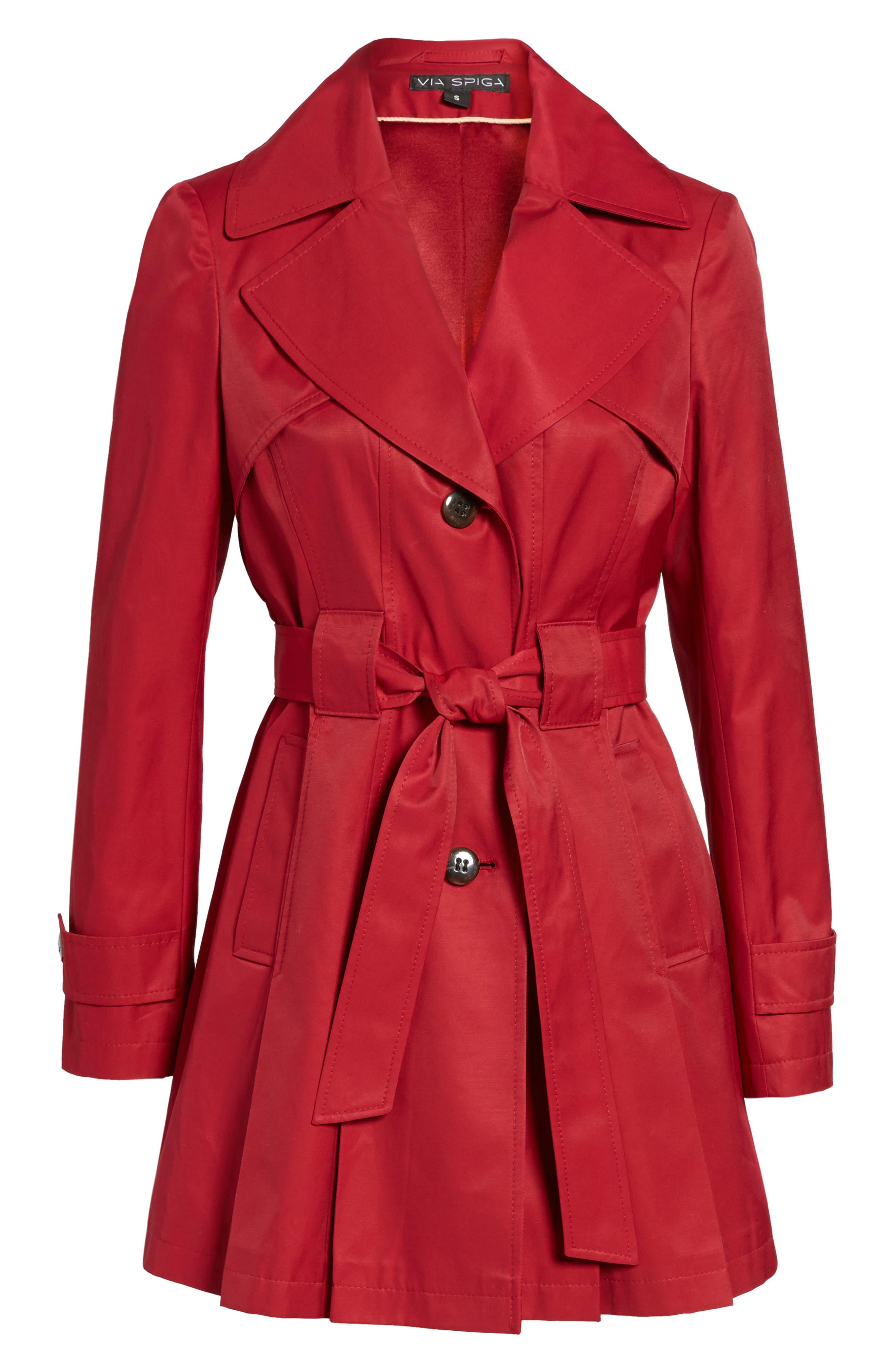 'Scarpa' Hooded Single Breasted Trench Coat,                             Alternate thumbnail 34, color,