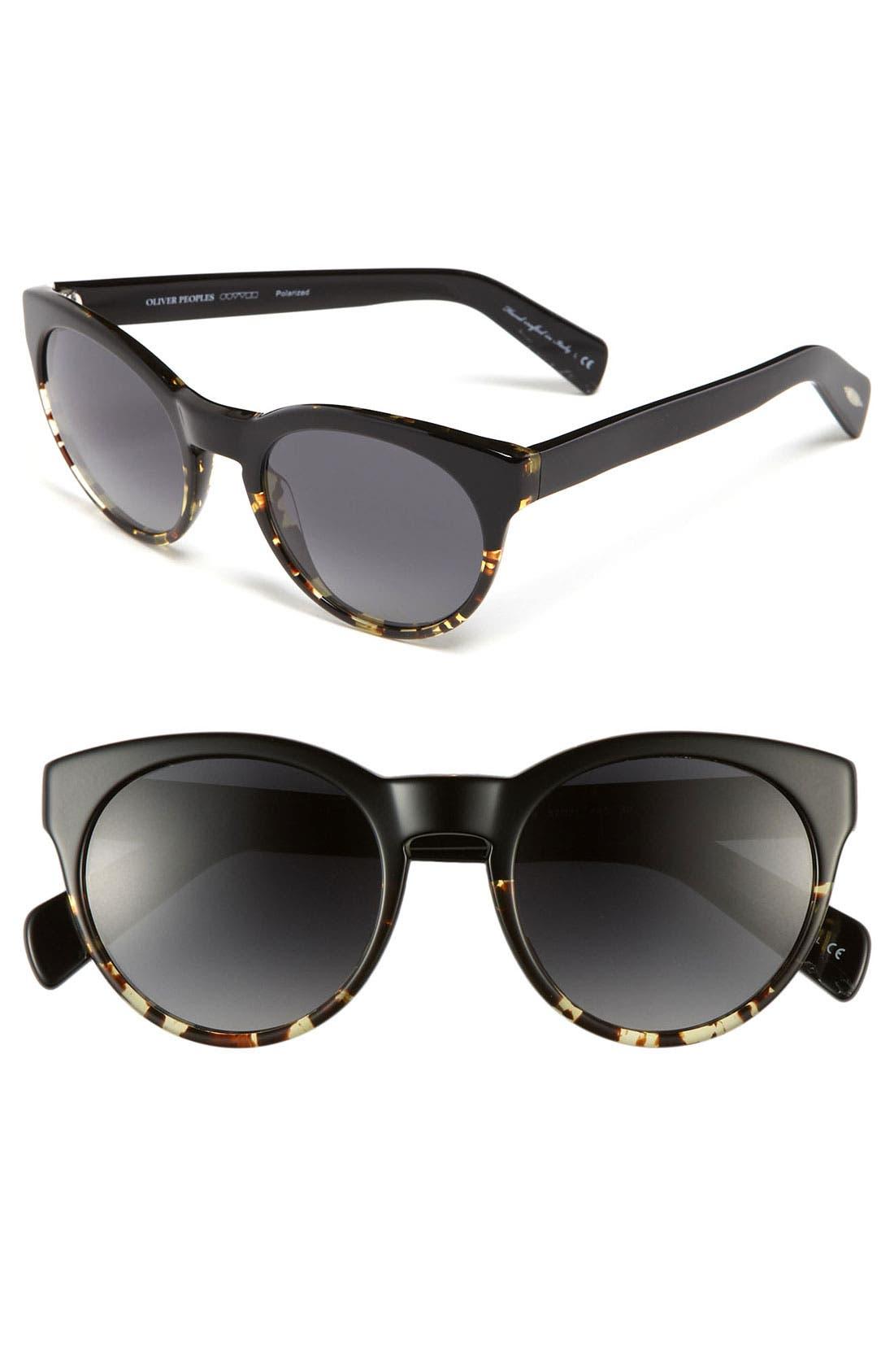 'Alivia' 52mm Polarized Sunglasses, Main, color, 001