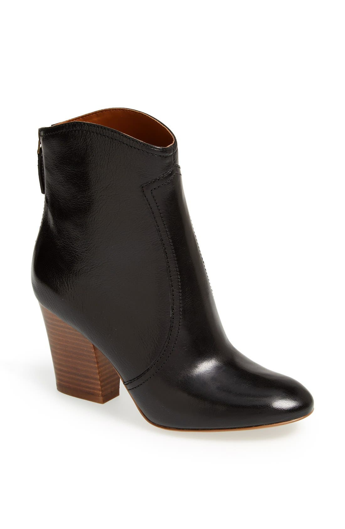 NINE WEST,                             'Dashiell' Leather Boot,                             Main thumbnail 1, color,                             001