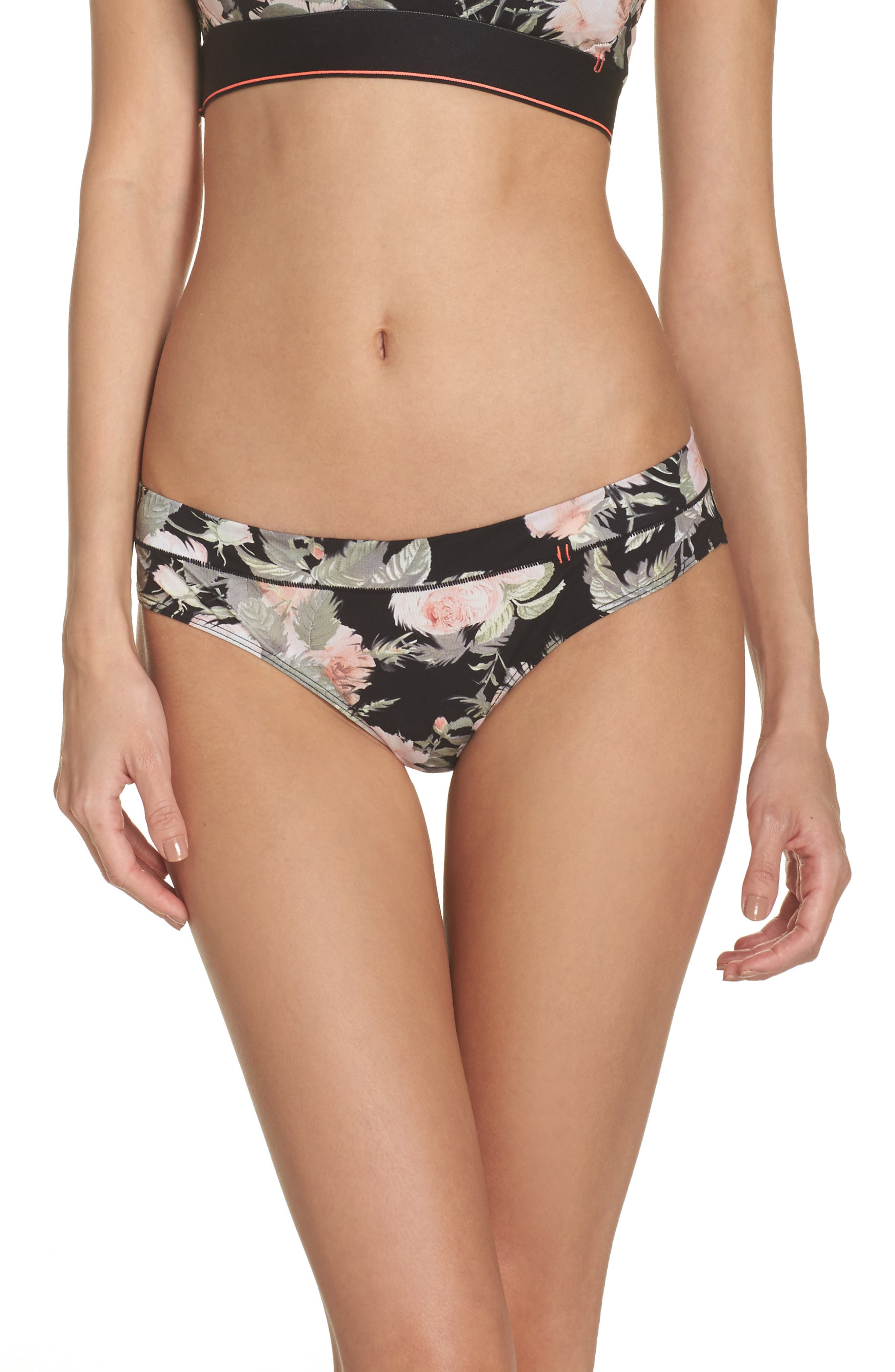 Beau Floral Cheeky Panties,                         Main,                         color, 001