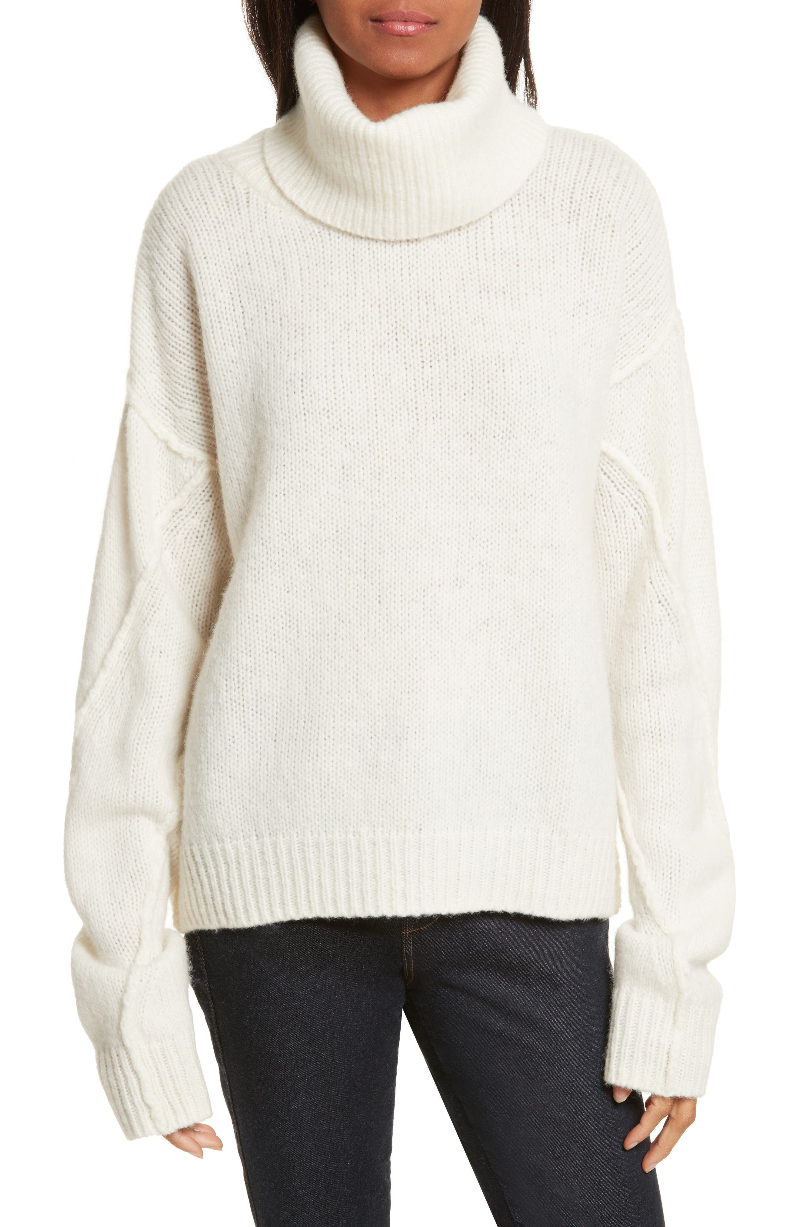 Eva Sweater with Removable Turtleneck,                             Main thumbnail 3, color,