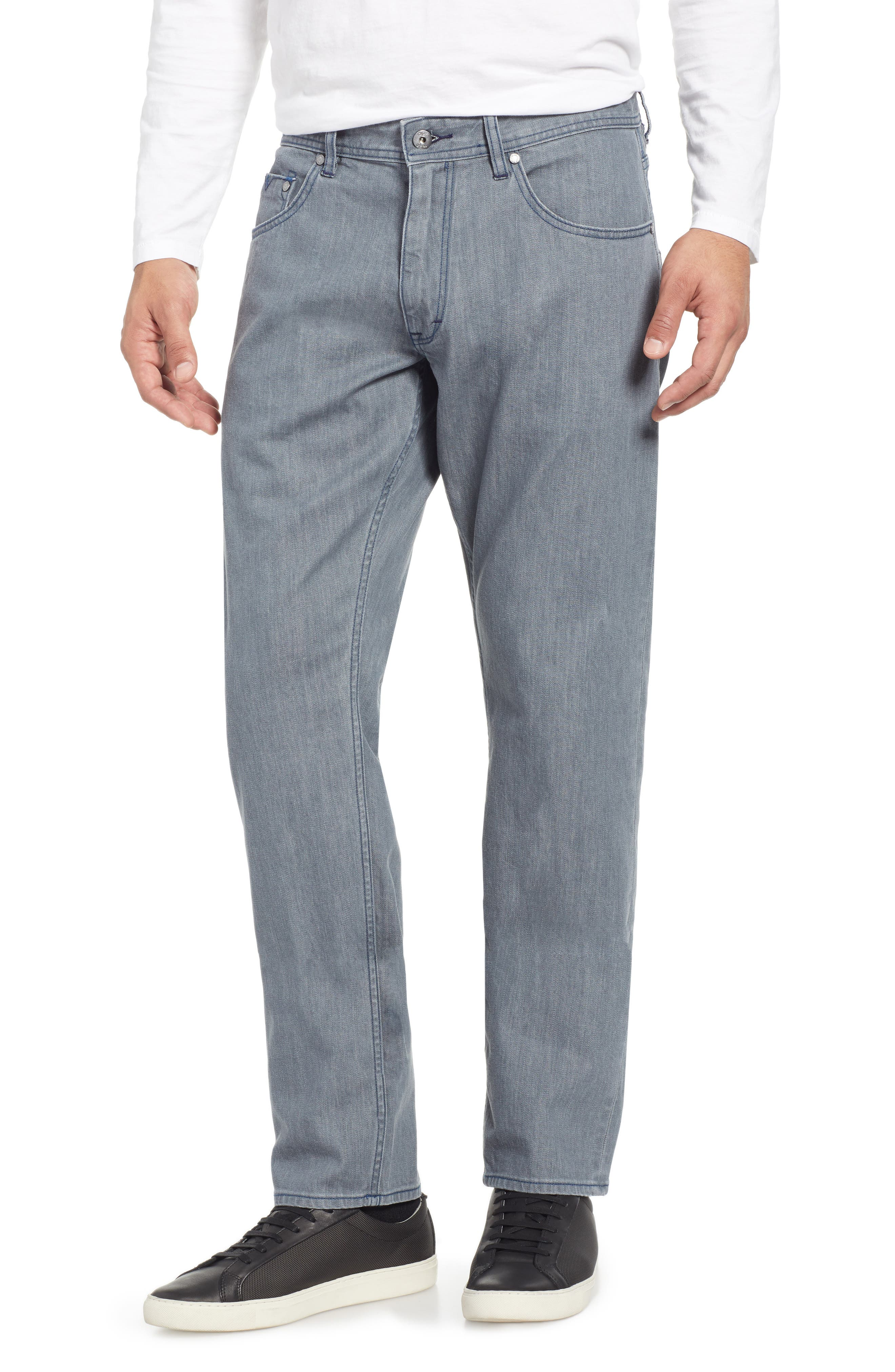 Bray Tailored Straight Leg Jeans,                         Main,                         color, GREY