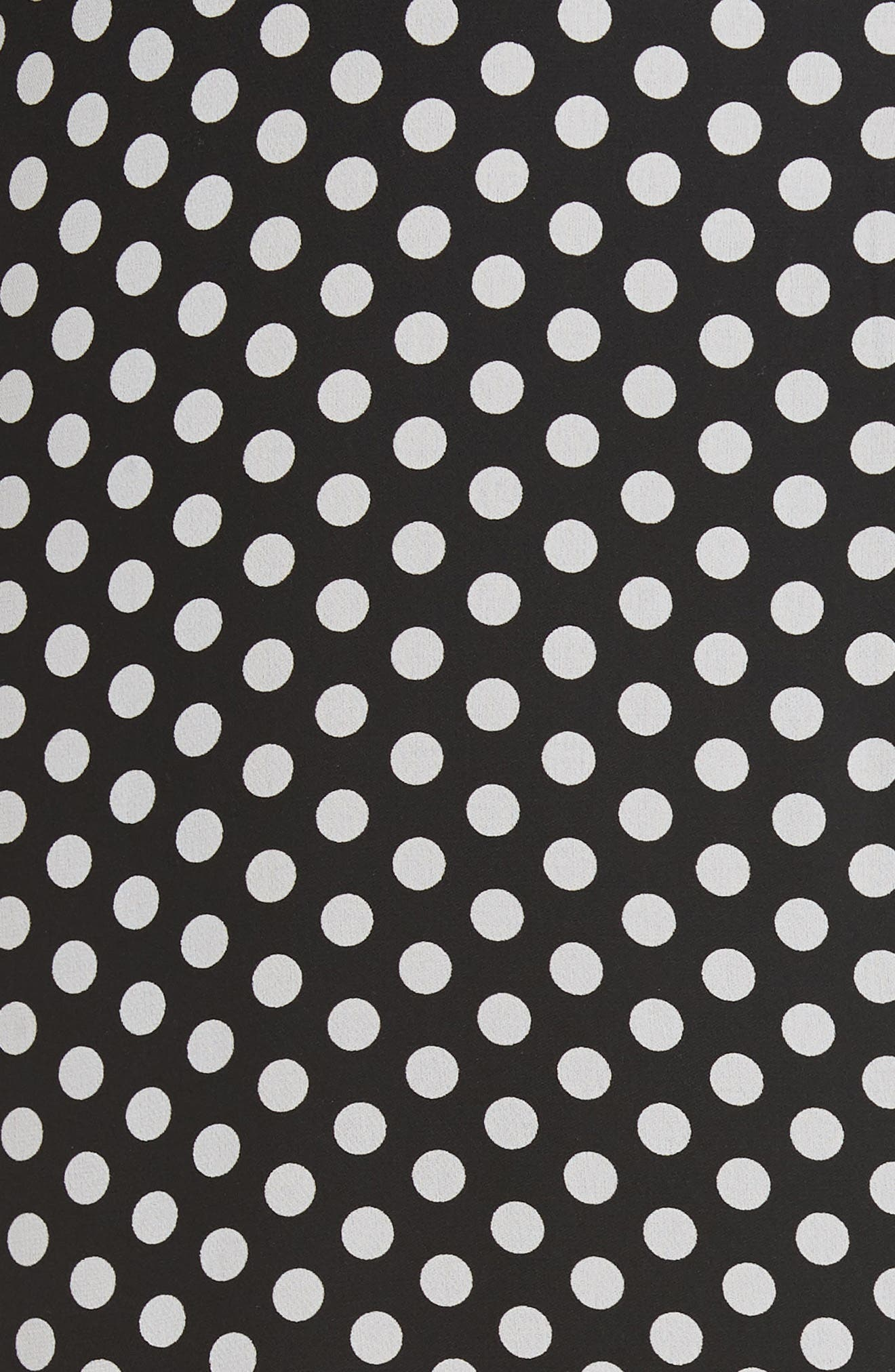 Dot Print Silk Georgette Skirt,                             Alternate thumbnail 5, color,                             006