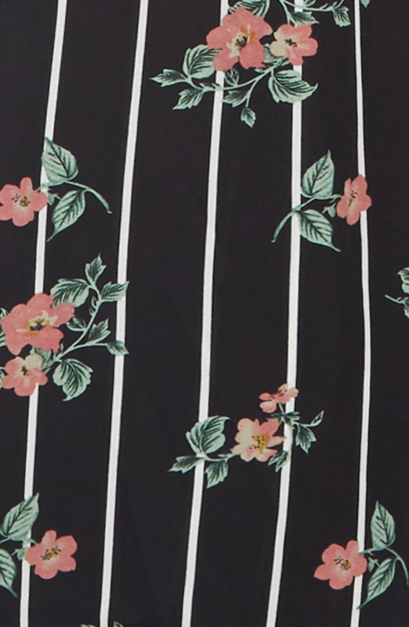 TRULY ME,                             Floral Jumpsuit,                             Alternate thumbnail 3, color,                             BLACK MULTI