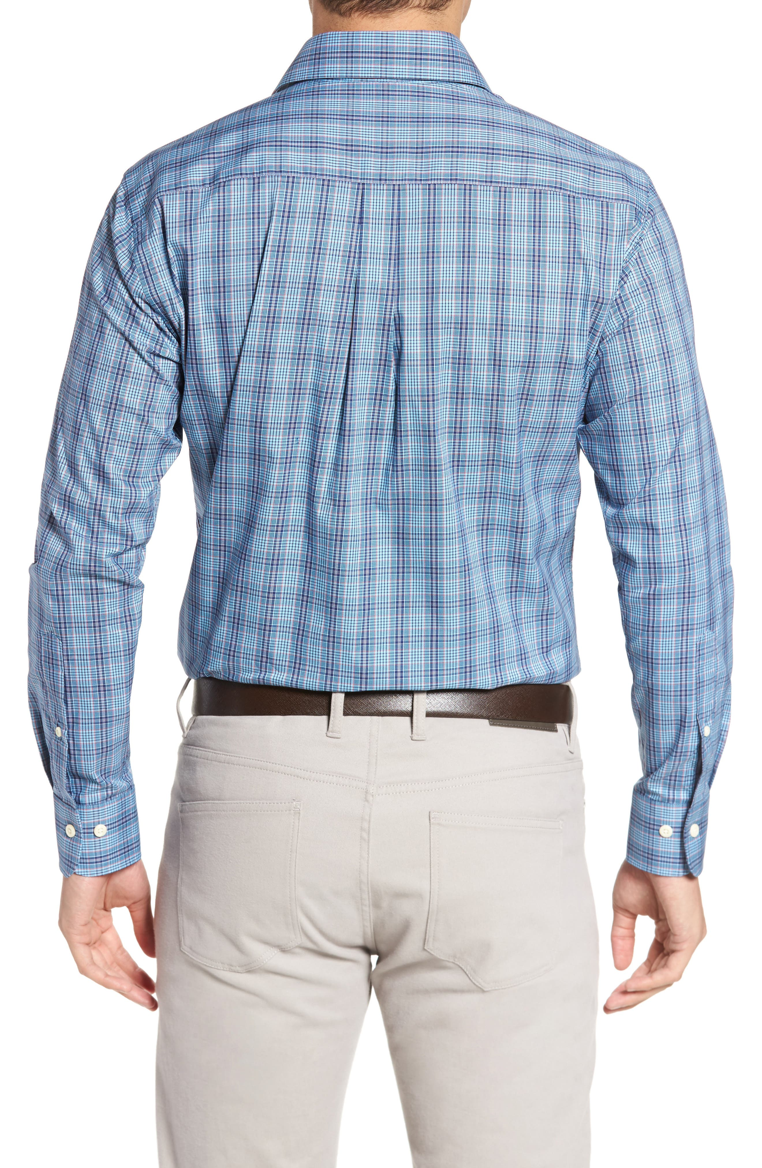 Classic Fit Crown Comfort Homestead Glen Sport Shirt,                             Alternate thumbnail 2, color,                             951