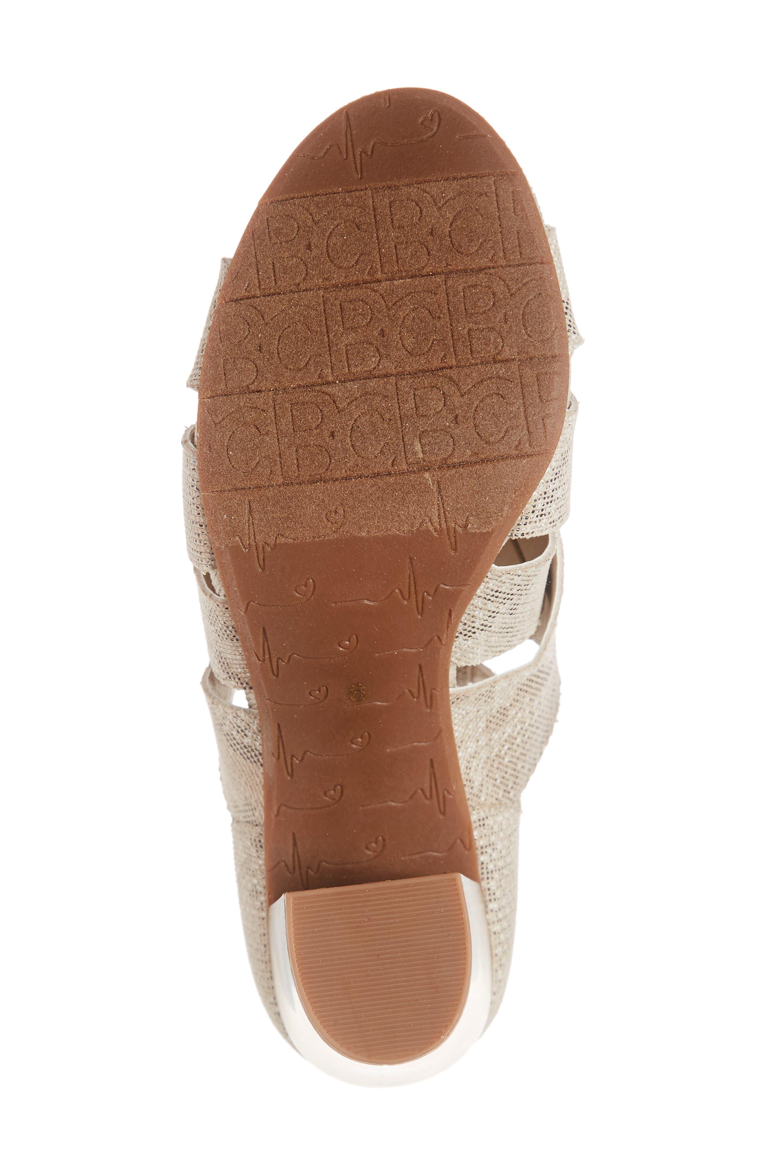 Pathway Block Heel Sandal,                             Alternate thumbnail 6, color,                             NATURAL