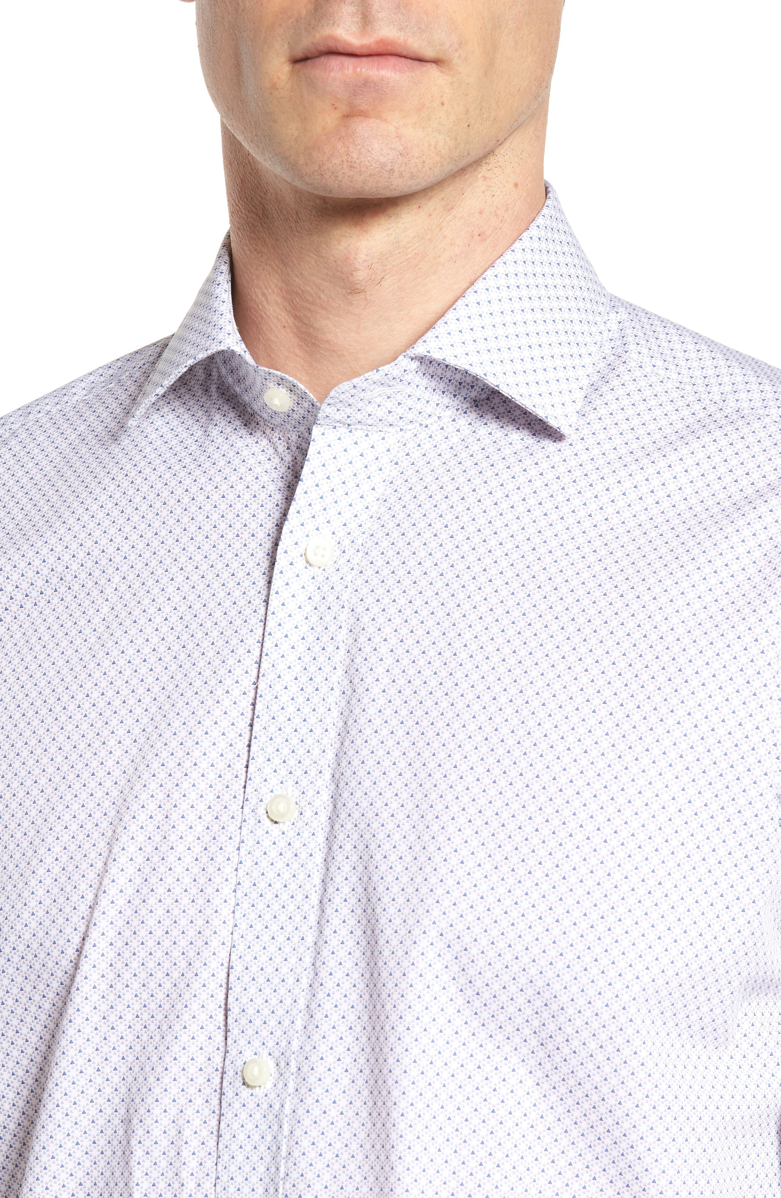 Regular Fit Print Sport Shirt,                             Alternate thumbnail 4, color,                             020