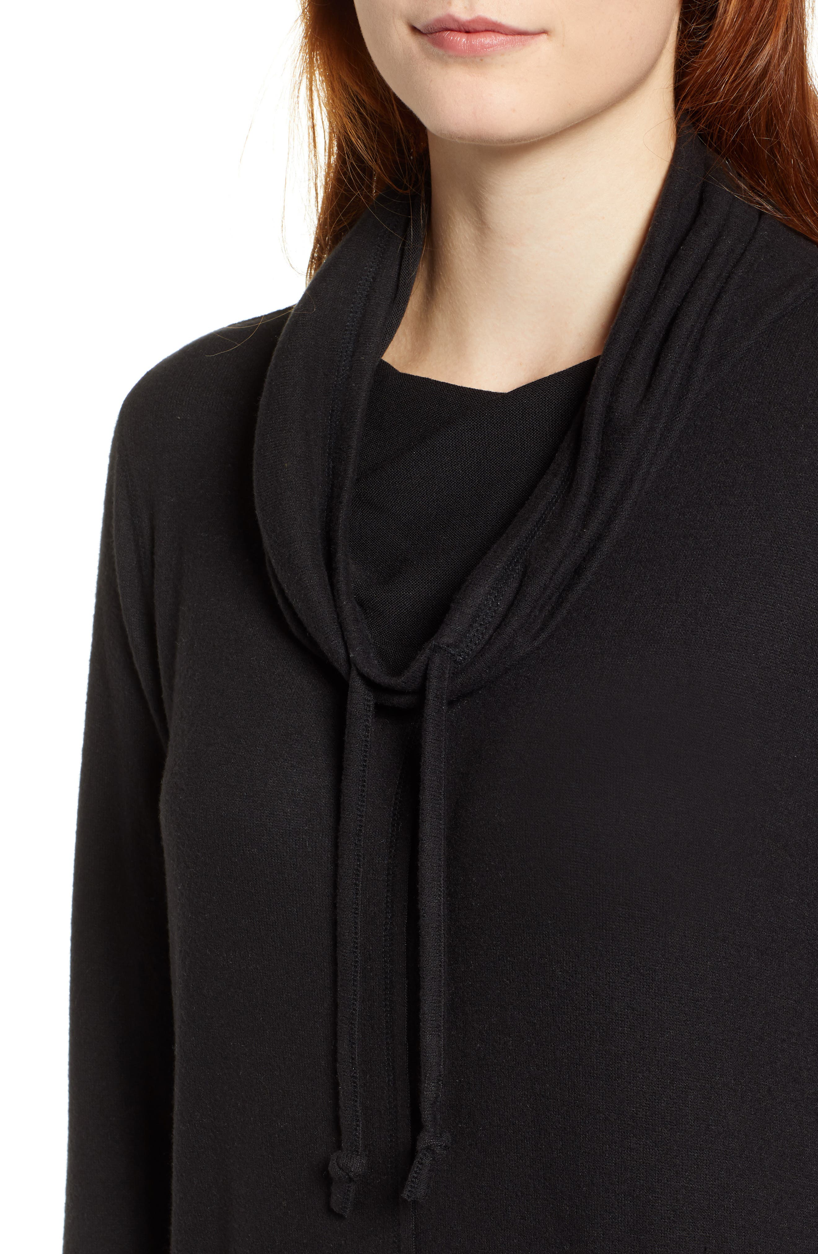Cowl Hood Pullover,                             Alternate thumbnail 4, color,                             001