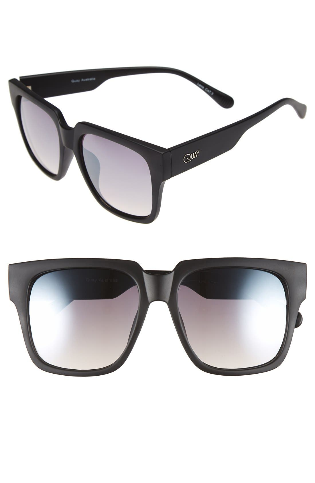 'On the Prowl' 55mm Square Sunglasses,                             Main thumbnail 2, color,