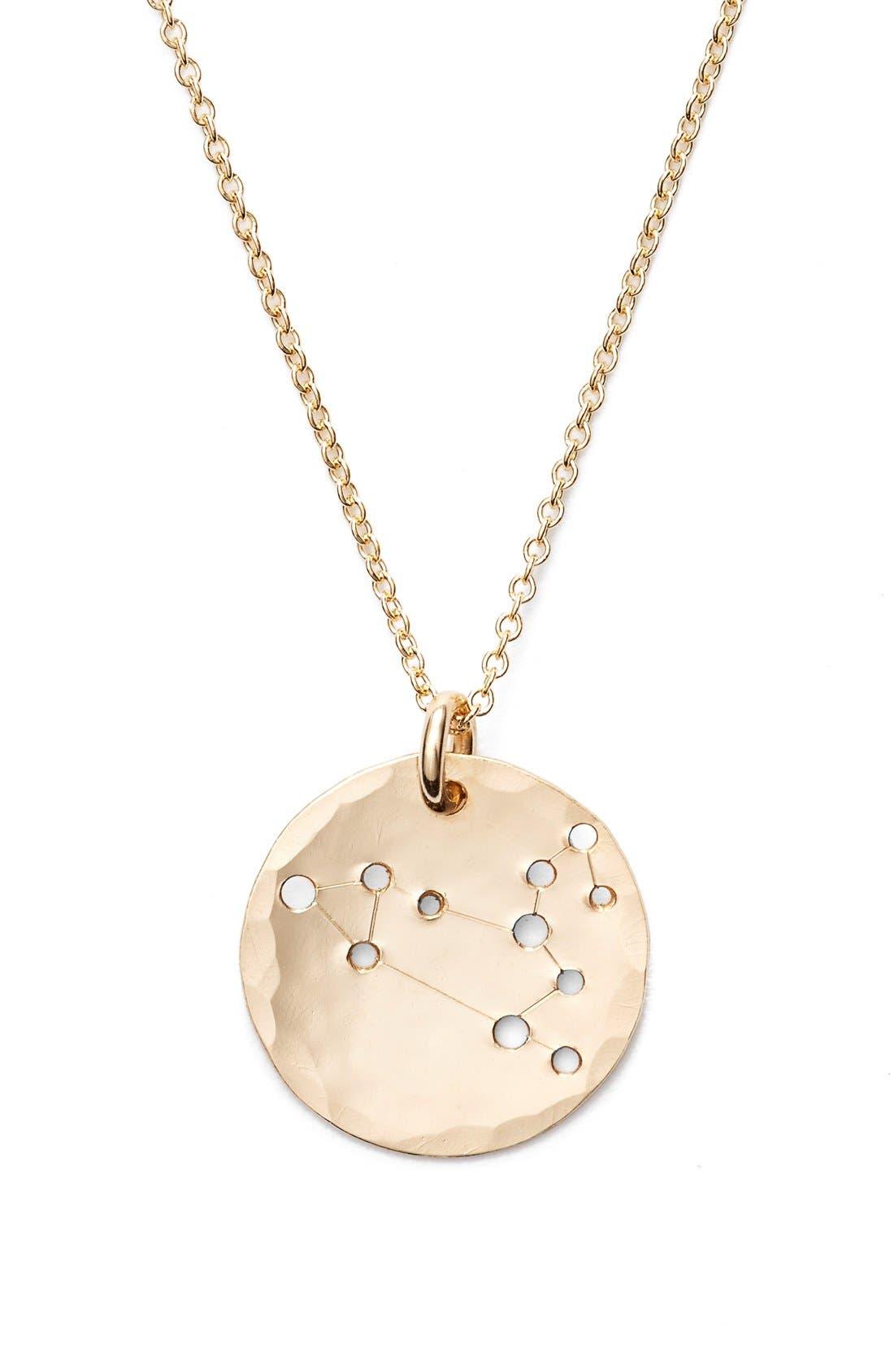 Ija 'Small Zodiac' 14k-Gold Fill Necklace,                             Alternate thumbnail 17, color,