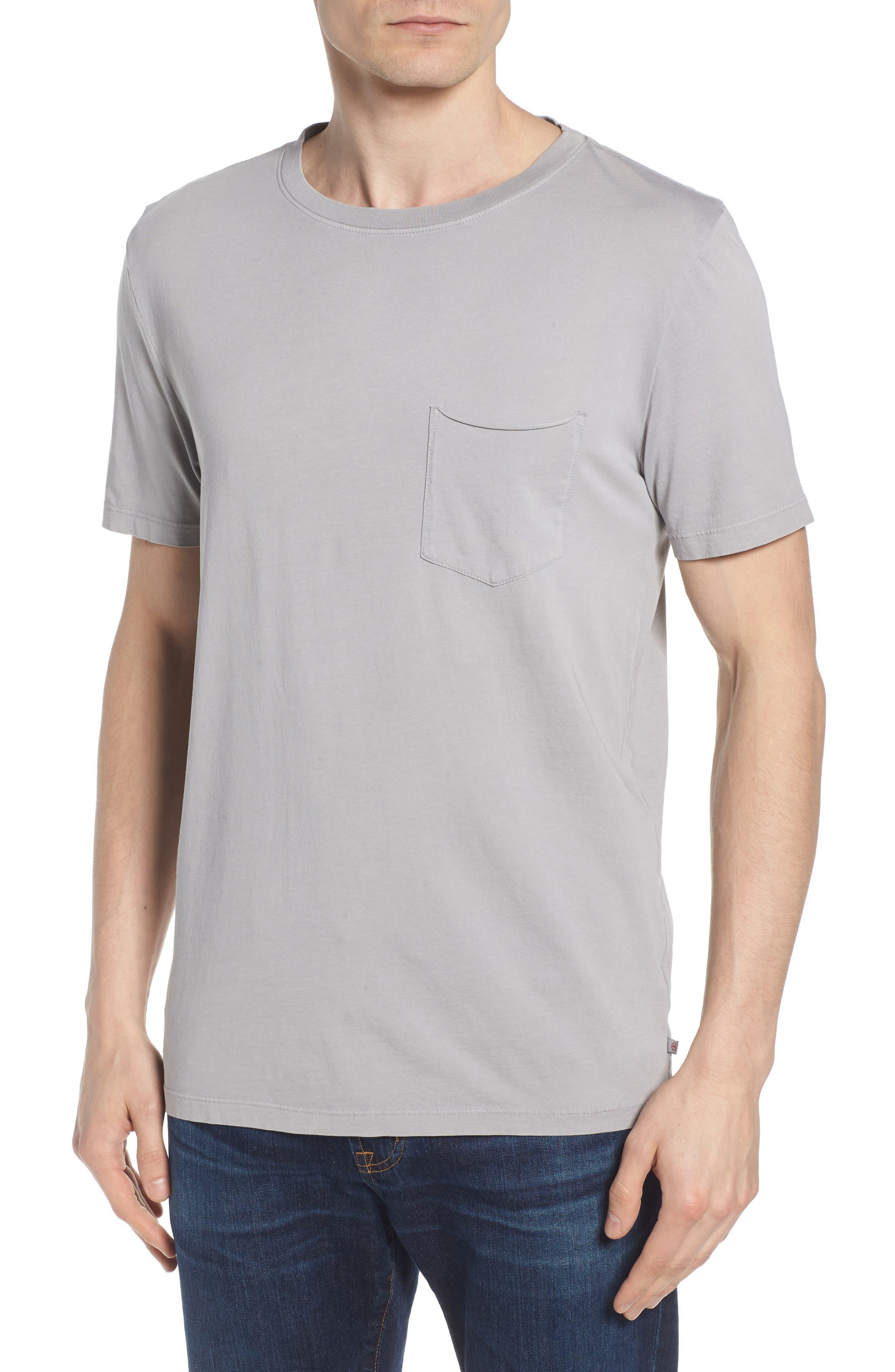 Anders Slim Fit Pocket T-Shirt, Main, color, SUN FADED PEBBLE BEACH