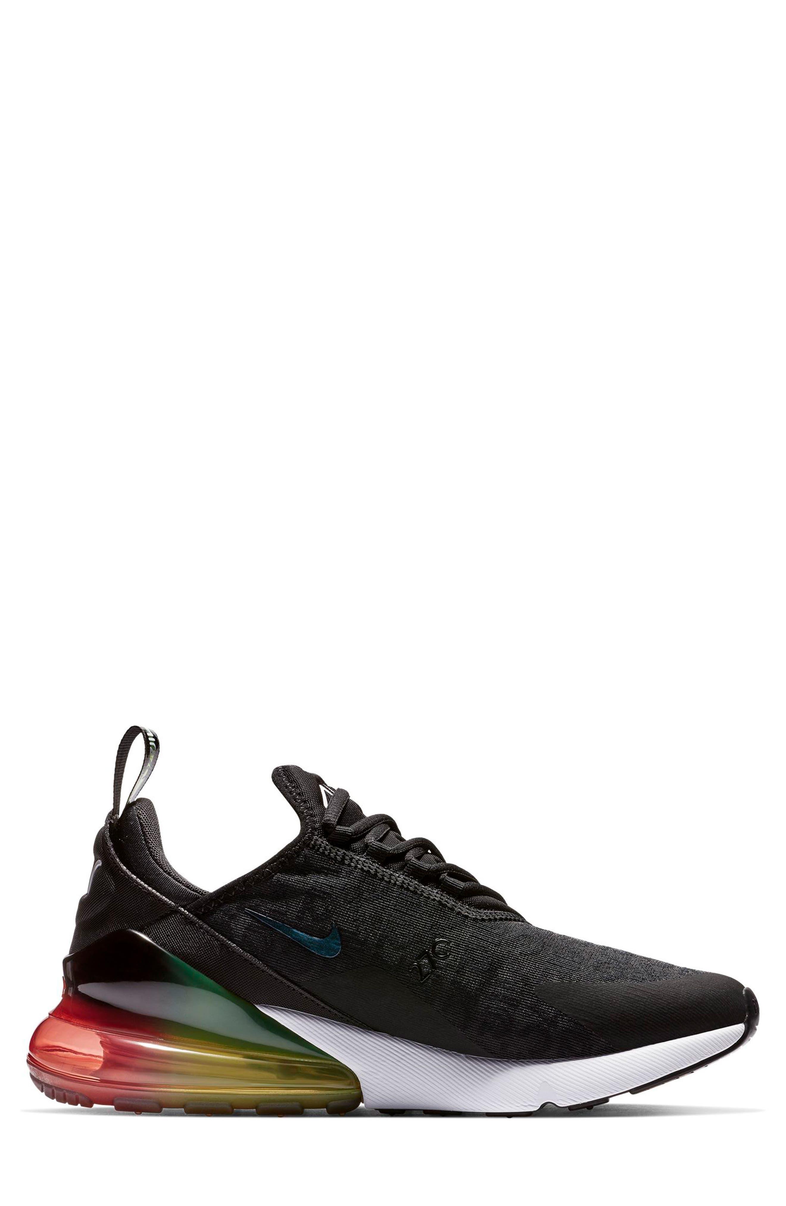 NIKE,                             Air Max 270 SE Sneaker,                             Alternate thumbnail 3, color,                             BLACK/ ORANGE/ EMBER GLOW