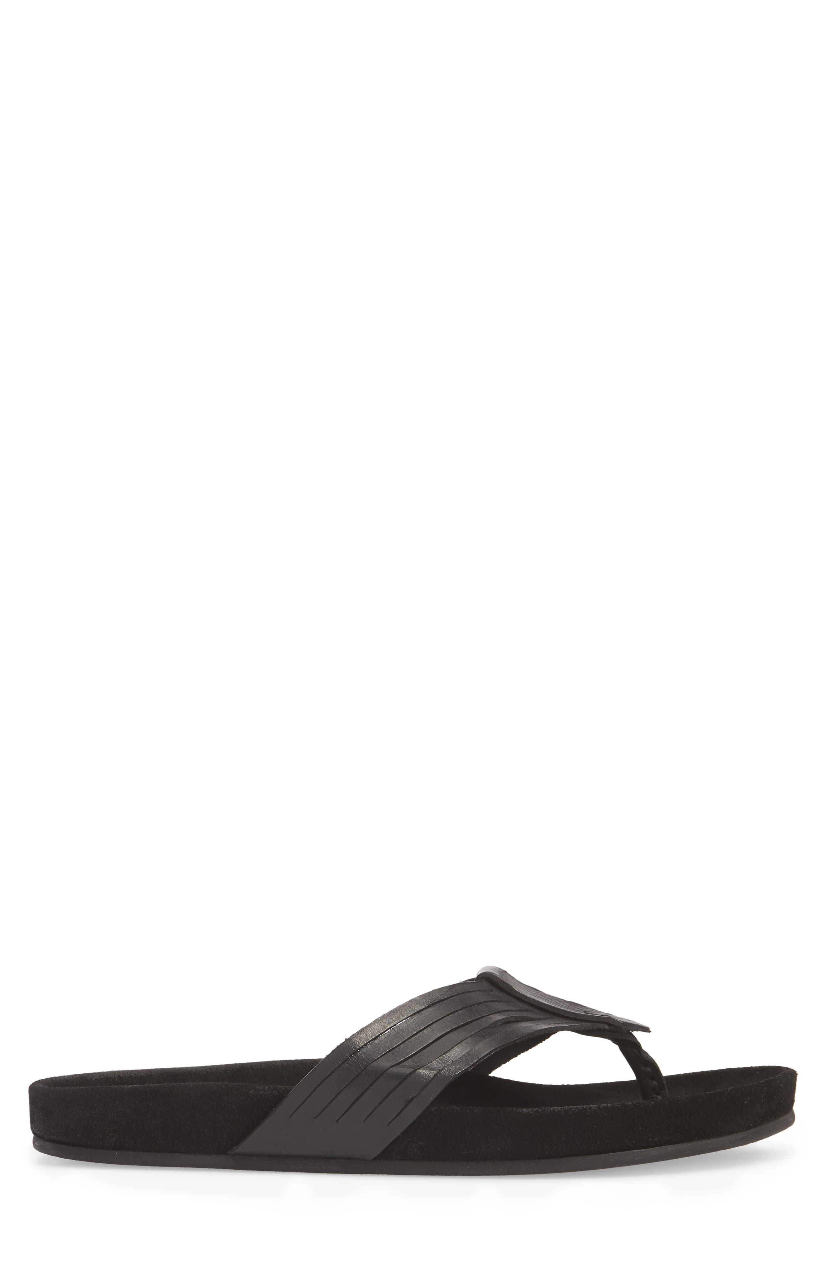 Almada Woven Flip-Flop,                             Alternate thumbnail 3, color,                             001