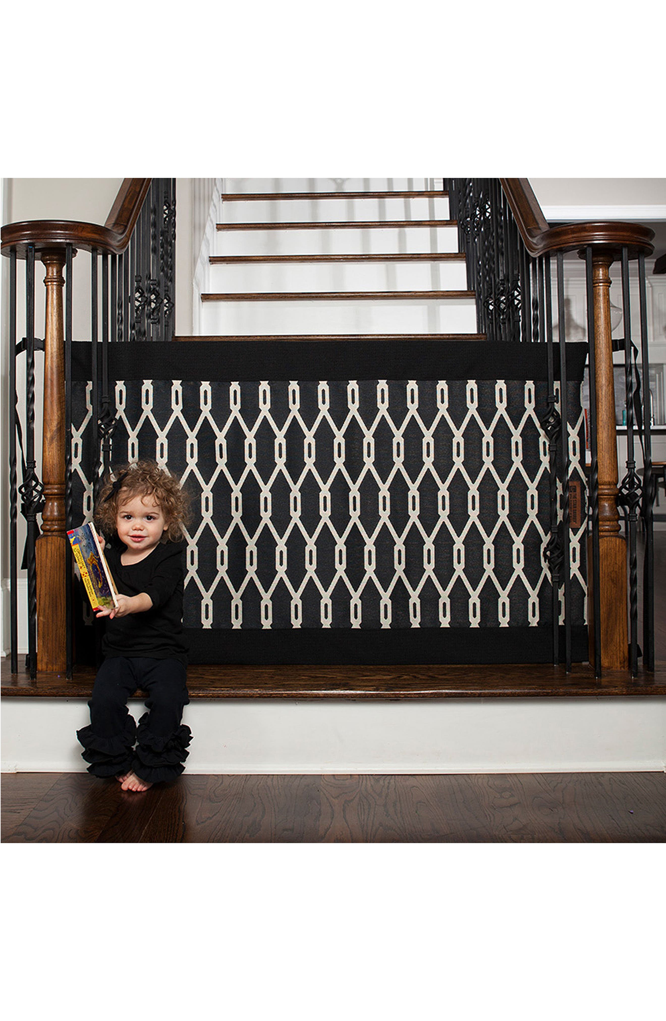 Wall to Banister Indoor Outdoor Safety Gate,                             Alternate thumbnail 5, color,                             002