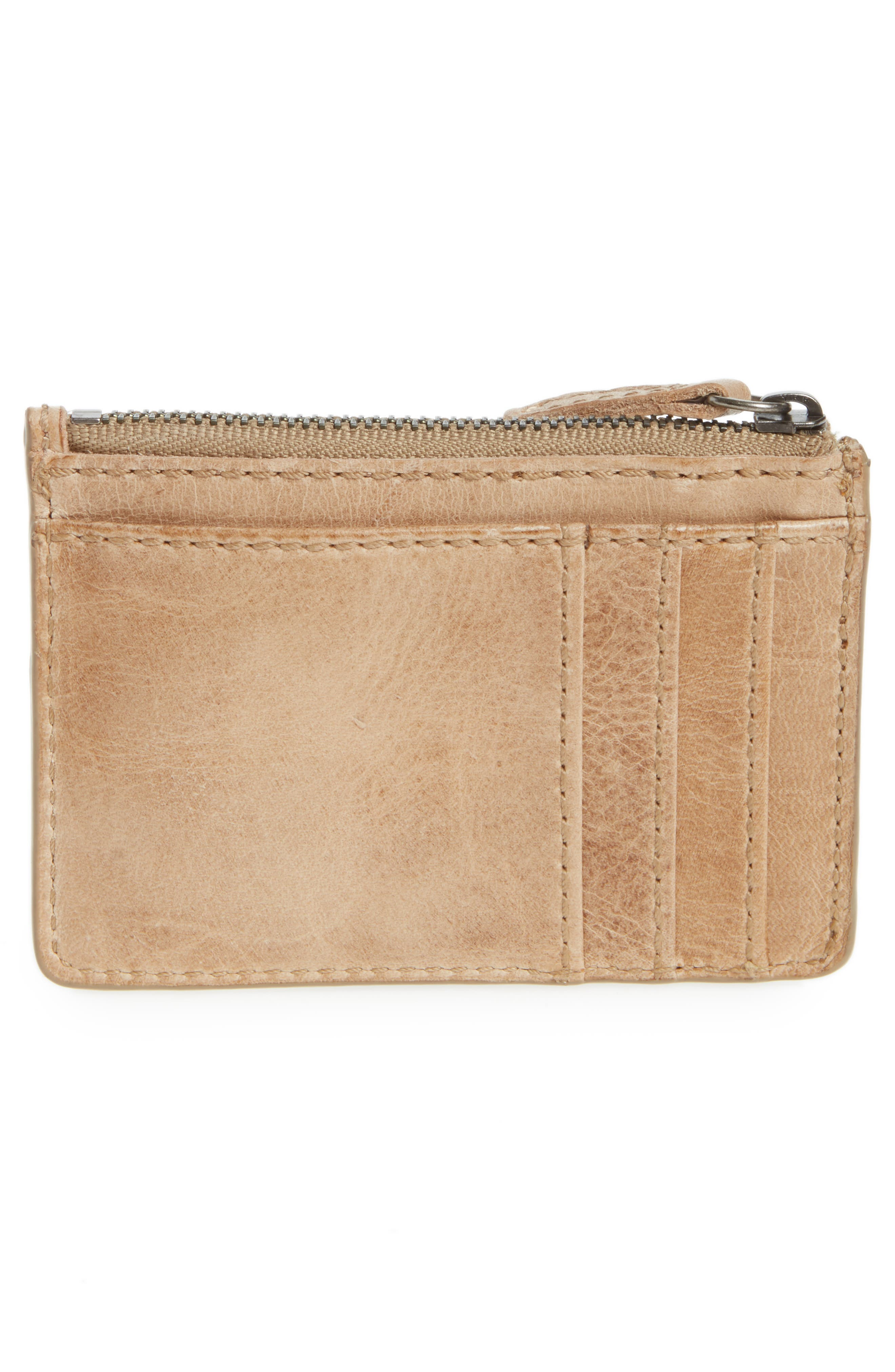 Melissa Leather Card Holder with Key Ring,                             Alternate thumbnail 7, color,