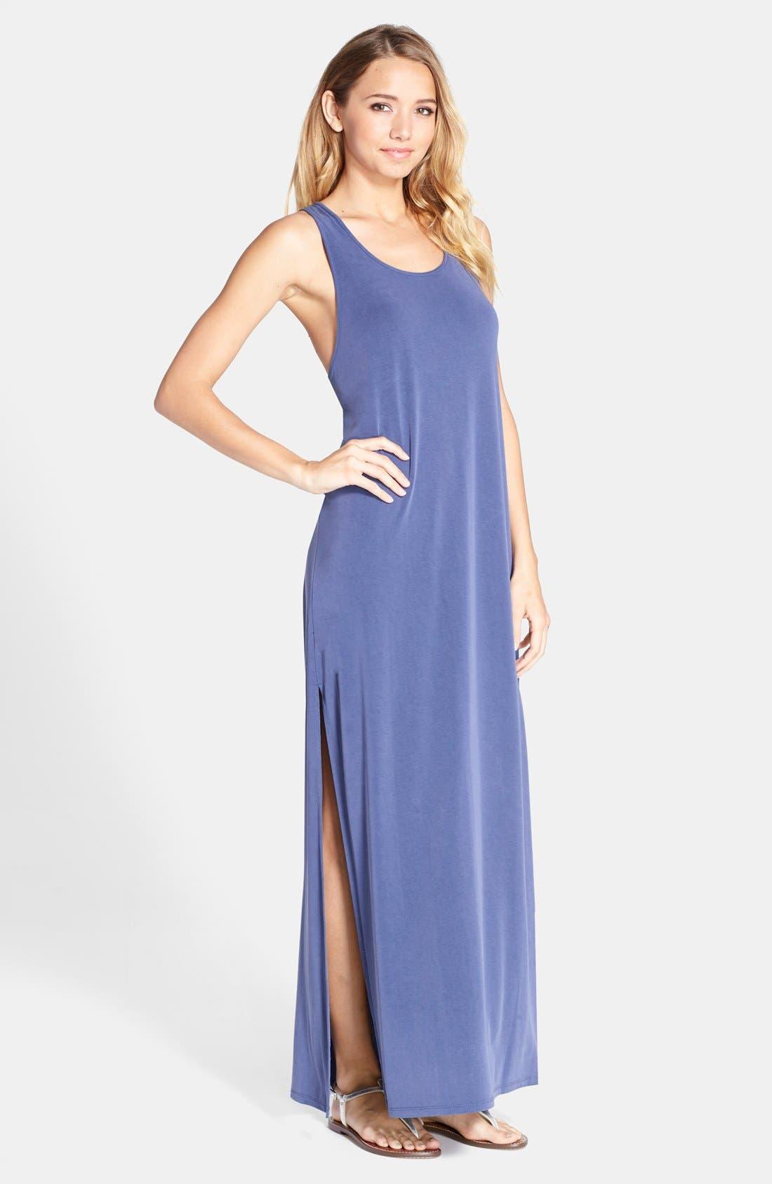 BCBGMAXAZRIA,                             'Raeghan' Racerback Jersey Maxi Dress,                             Main thumbnail 1, color,                             412