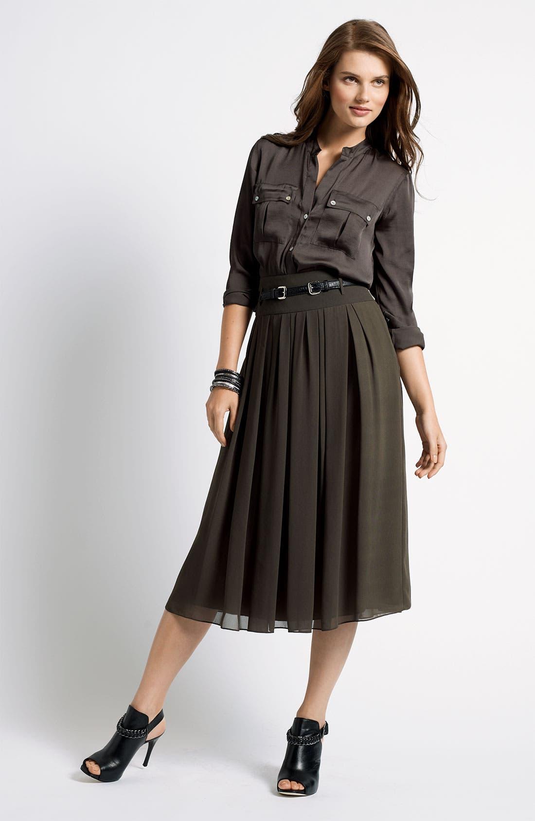 Long Chiffon Skirt,                             Alternate thumbnail 2, color,                             002