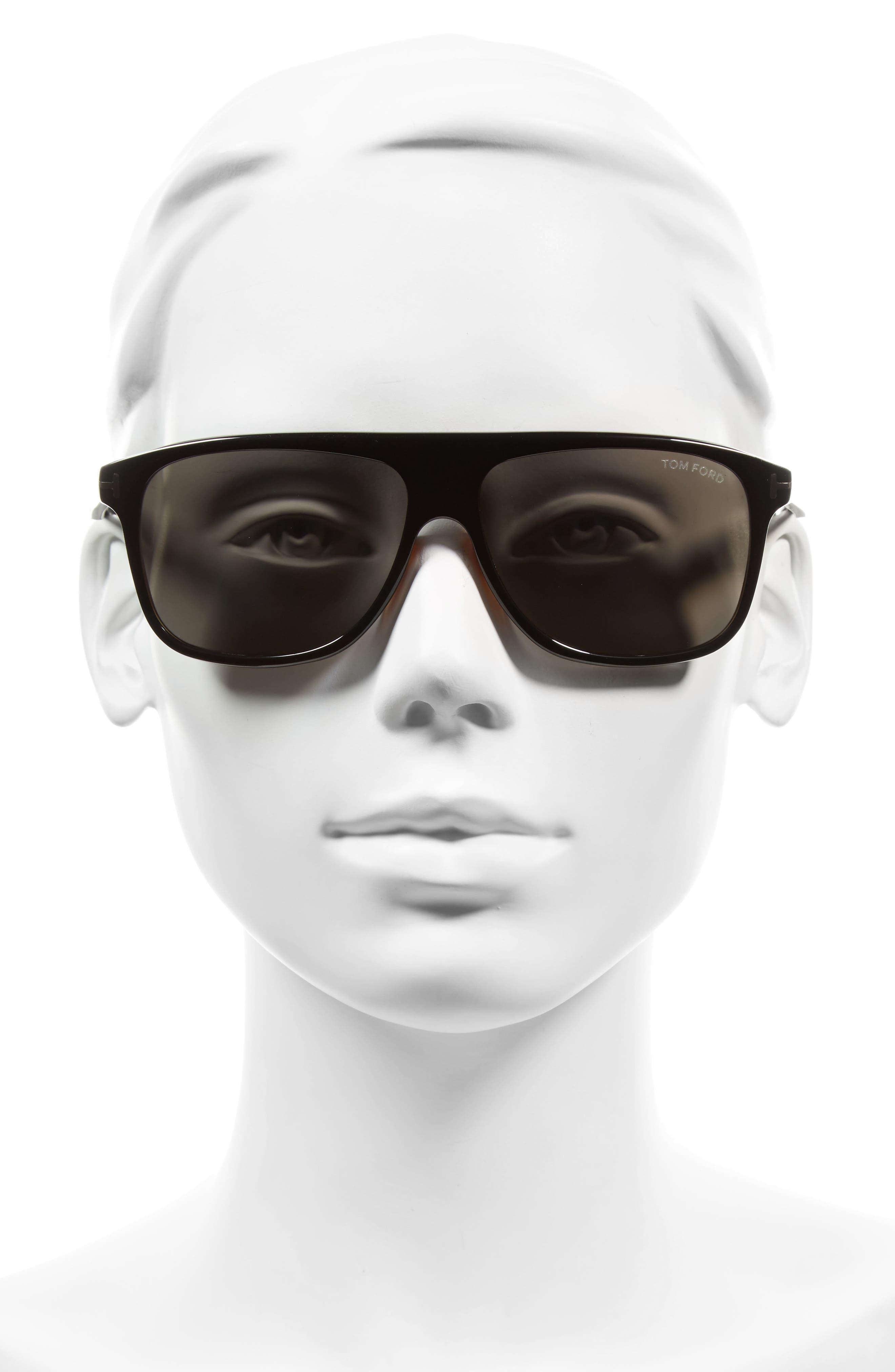 Inigo 59mm Flat Top Sunglasses,                             Alternate thumbnail 2, color,                             001