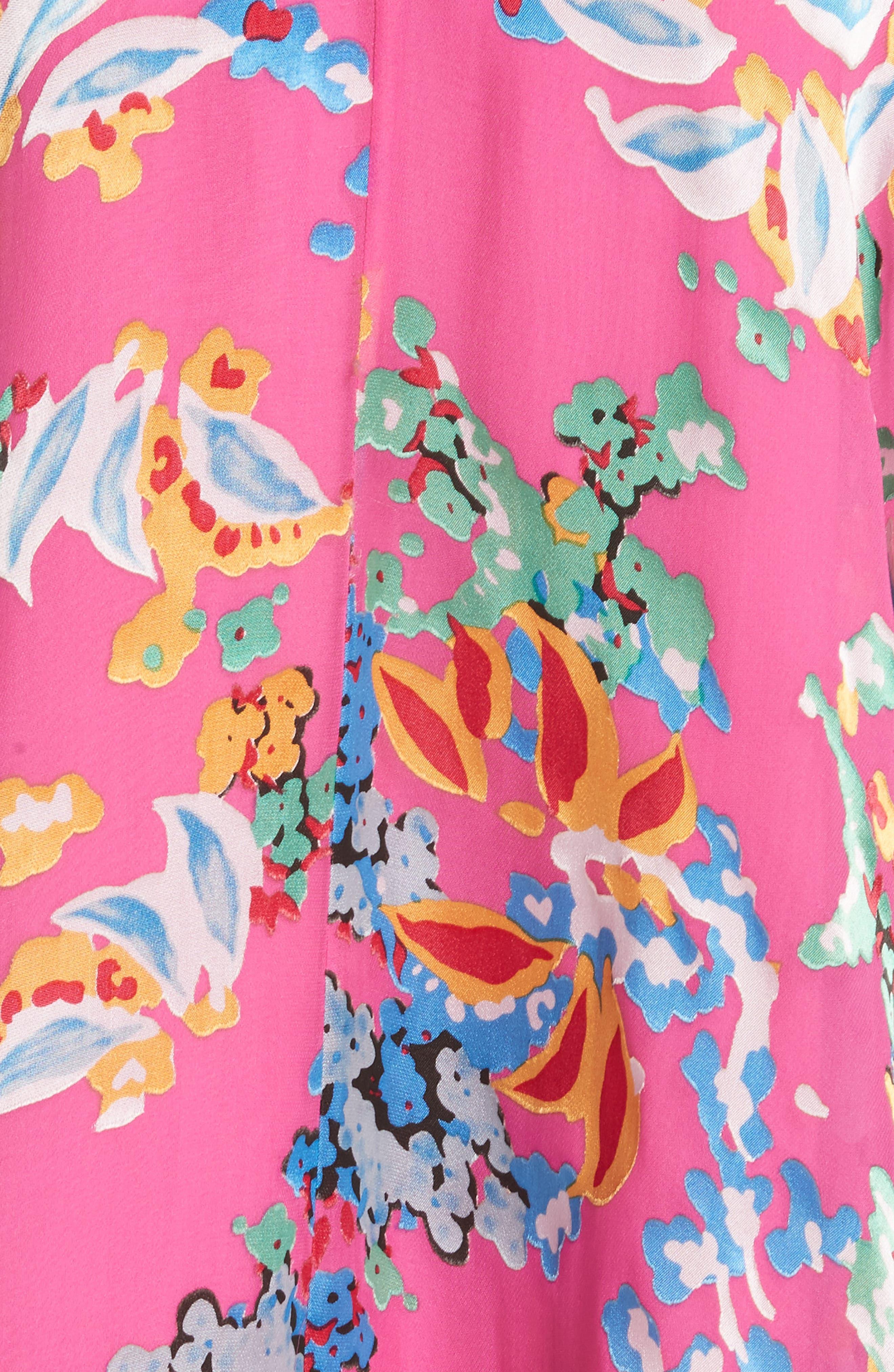 Rita Ruffle Dress,                             Alternate thumbnail 5, color,                             PINK BEGONIA