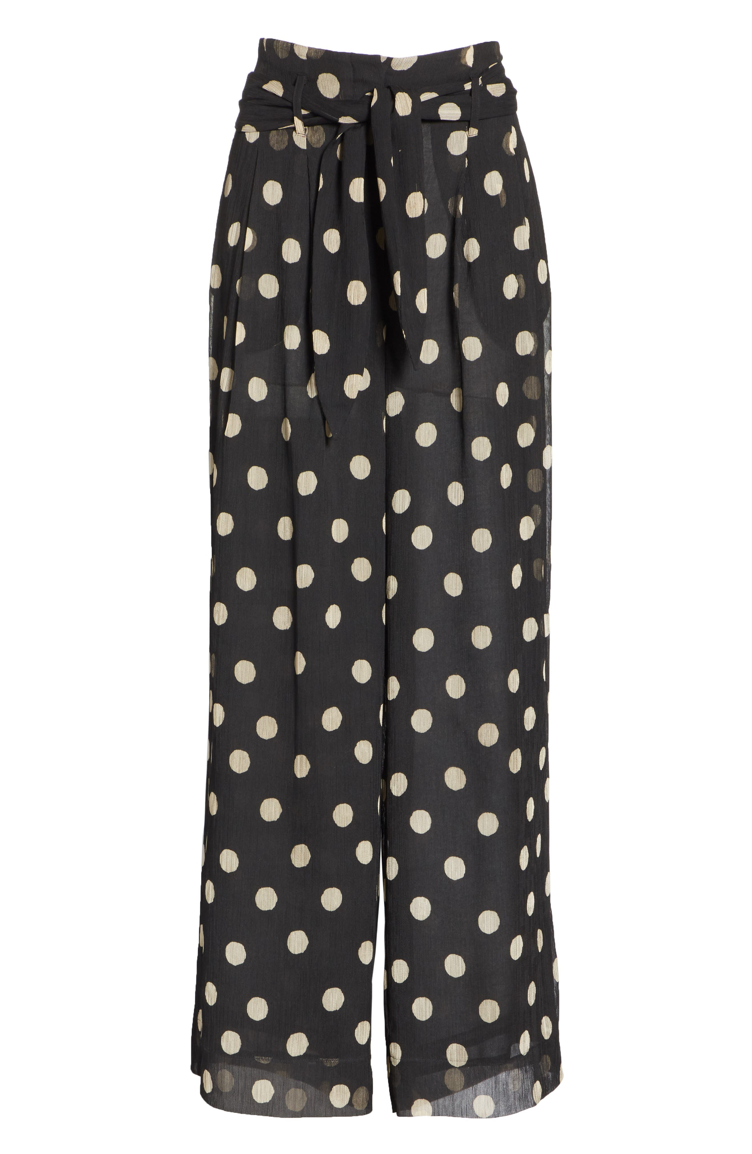 Nevada Polka Dot Chiffon Pants,                             Alternate thumbnail 6, color,                             POLKA DOT