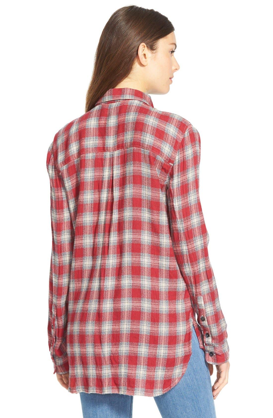 'Fairfax Plaid' Ex-Boyfriend Shirt,                             Alternate thumbnail 5, color,                             600