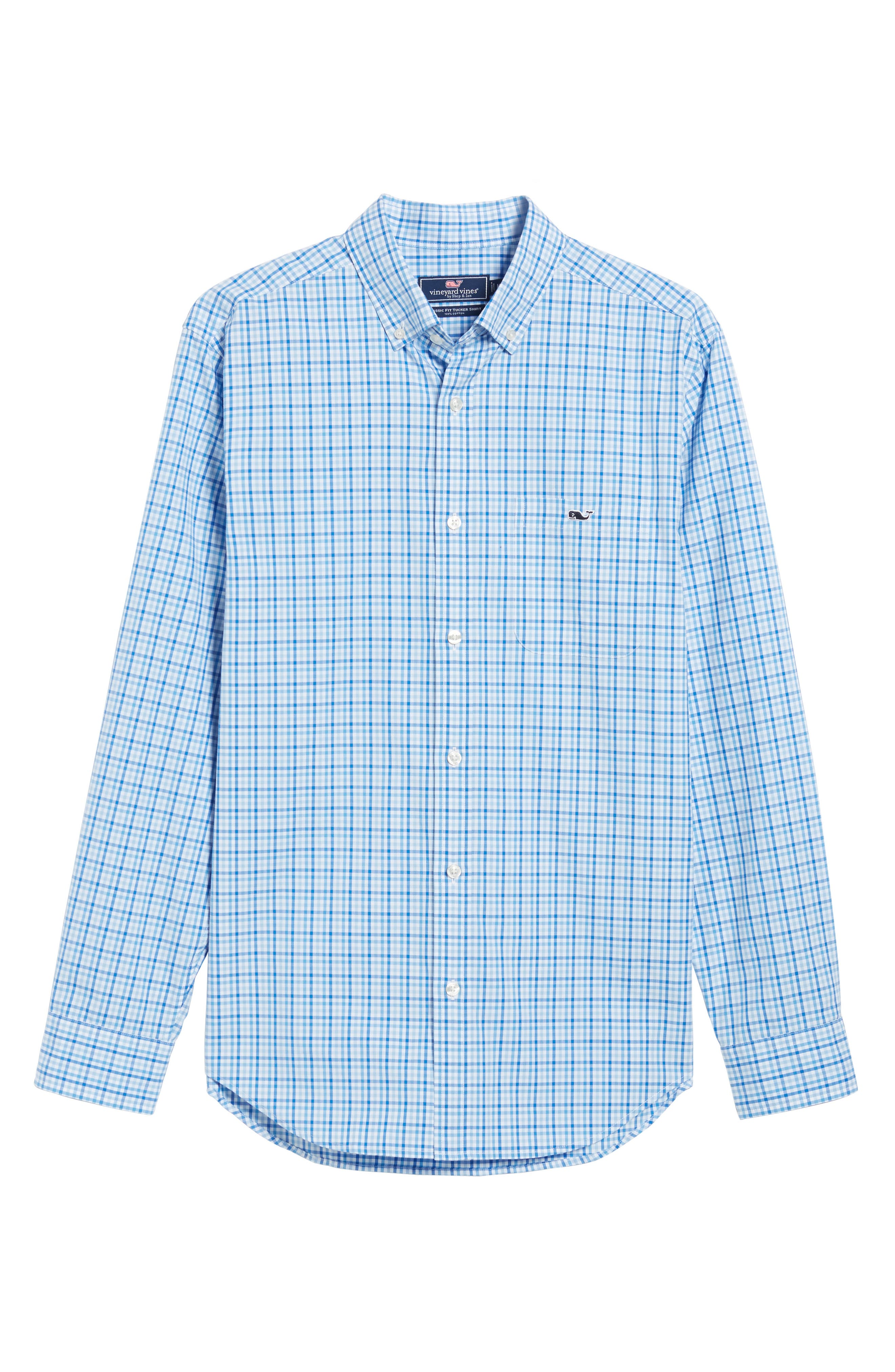 Munroe Tucker Classic Fit Gingham Sport Shirt,                             Alternate thumbnail 6, color,                             456
