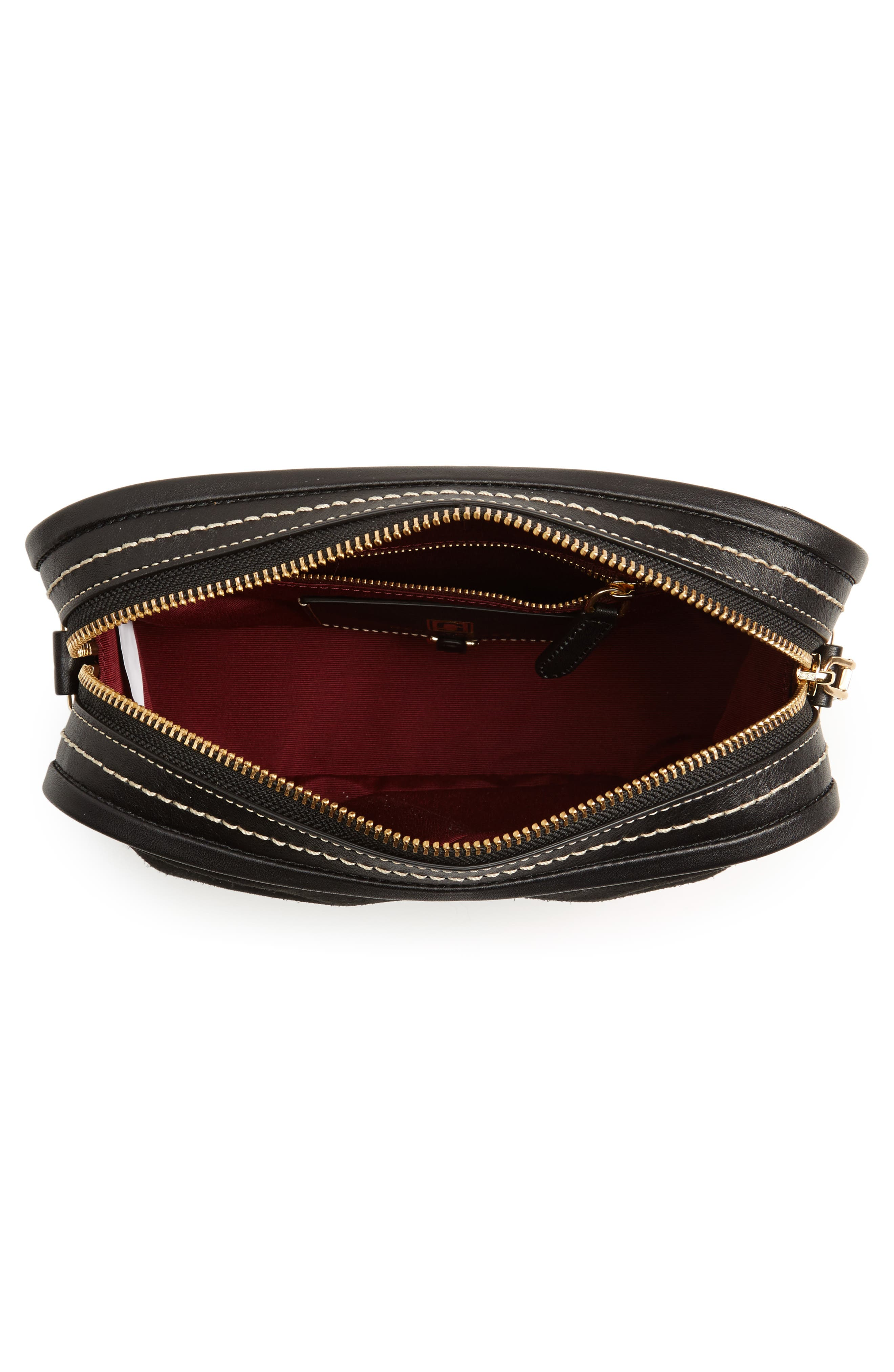 The Squeeze Suede & Leather Shoulder Bag,                             Alternate thumbnail 10, color,