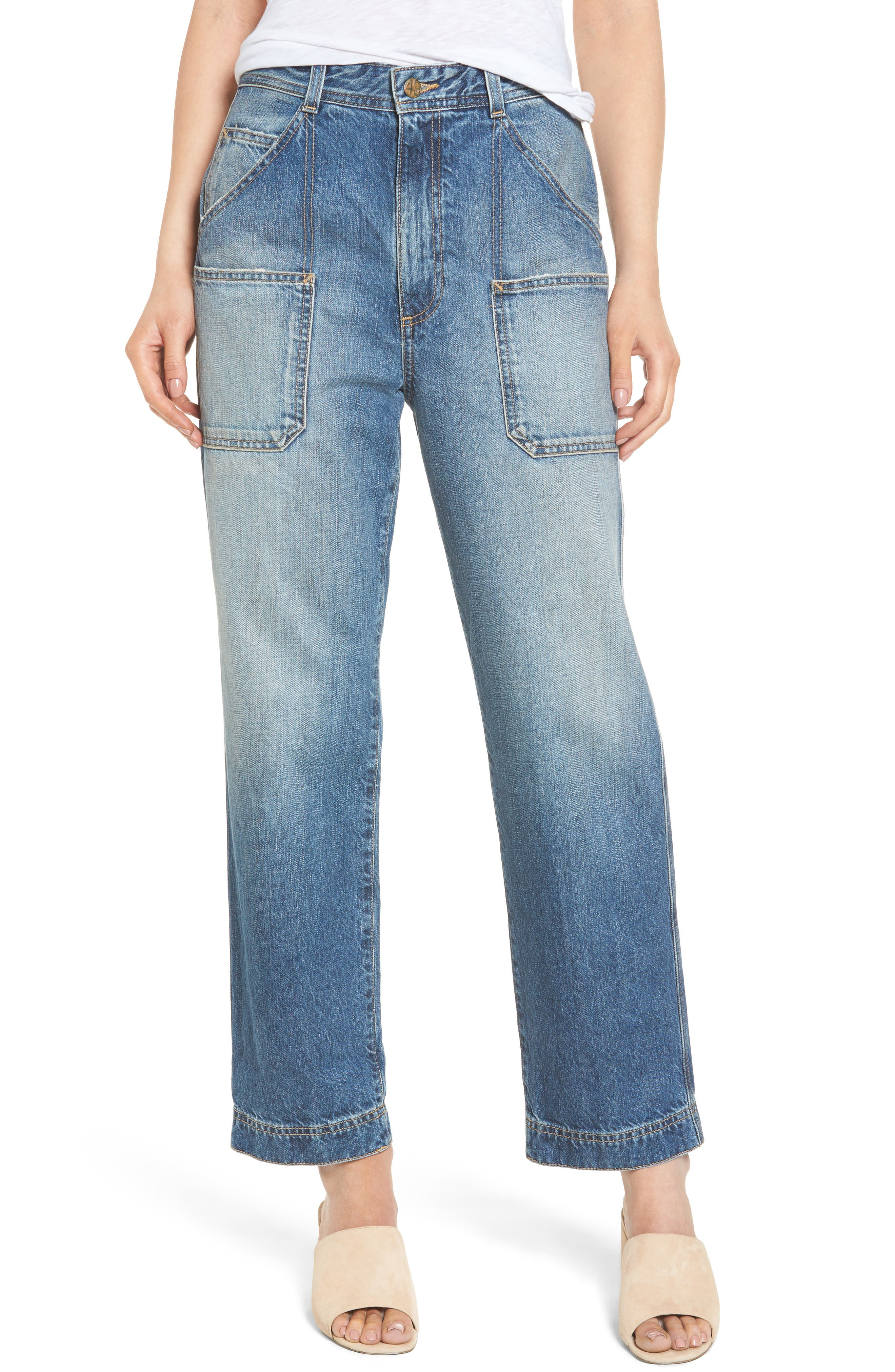 Cody Rolled Hem Jeans,                             Alternate thumbnail 4, color,
