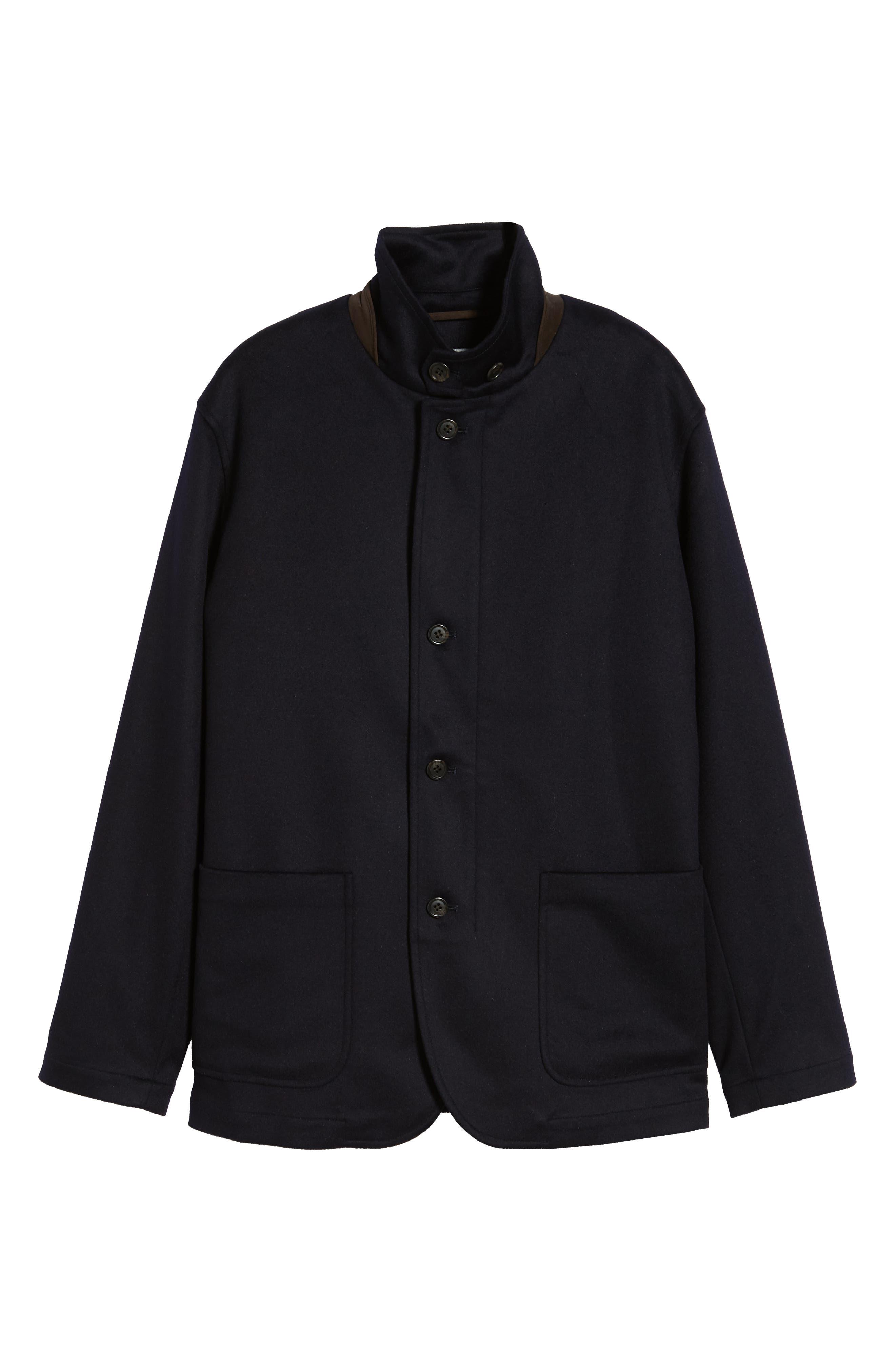 Wade Crown Fleece Jacket,                             Alternate thumbnail 6, color,                             ARCTIC NIGHT