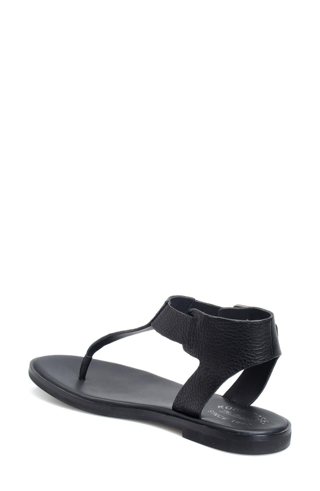 'Catriona' Flat Sandal,                             Alternate thumbnail 4, color,                             001