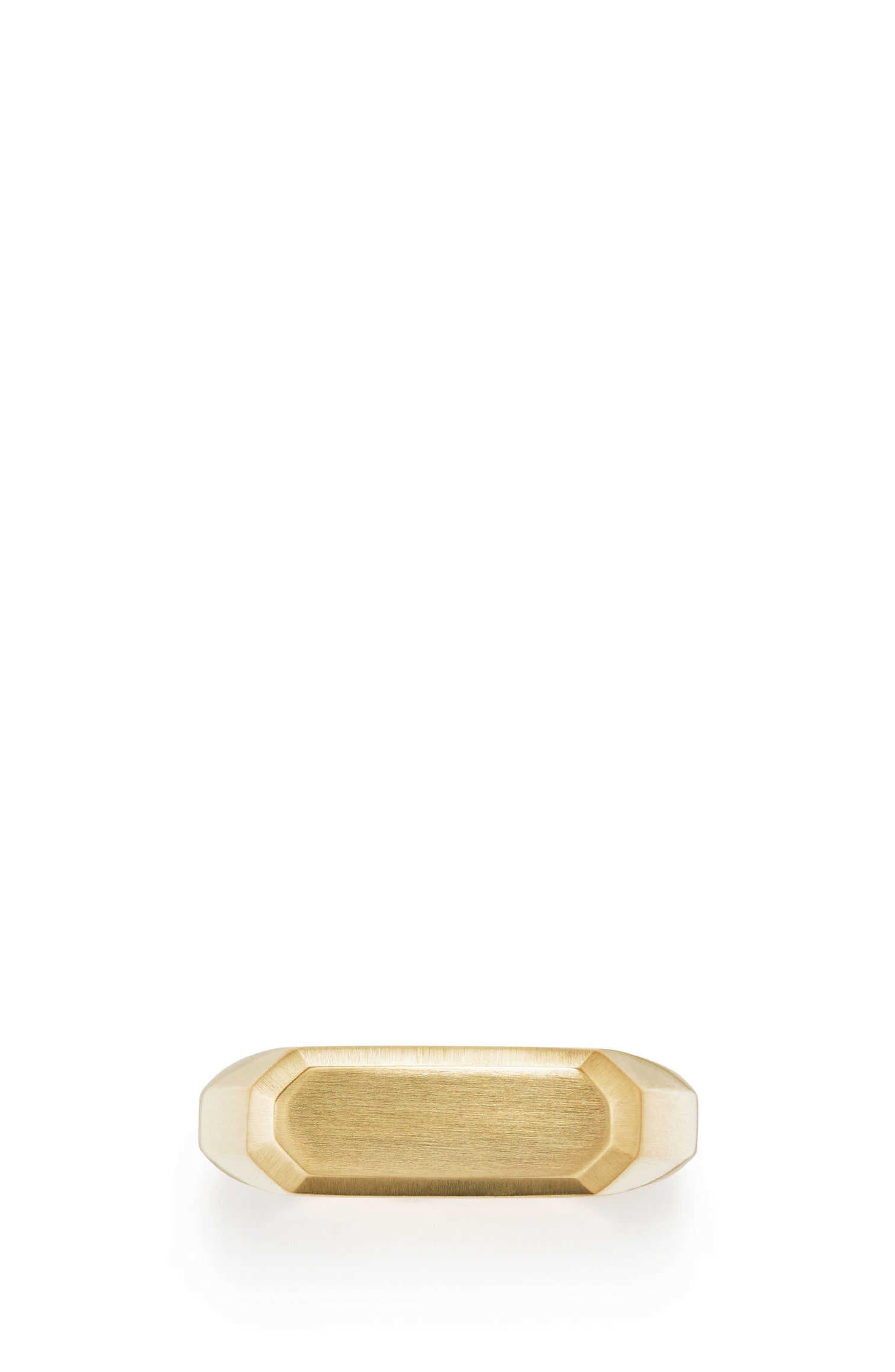 Streamline Signet Ring in 18K Gold,                             Alternate thumbnail 3, color,                             GOLD