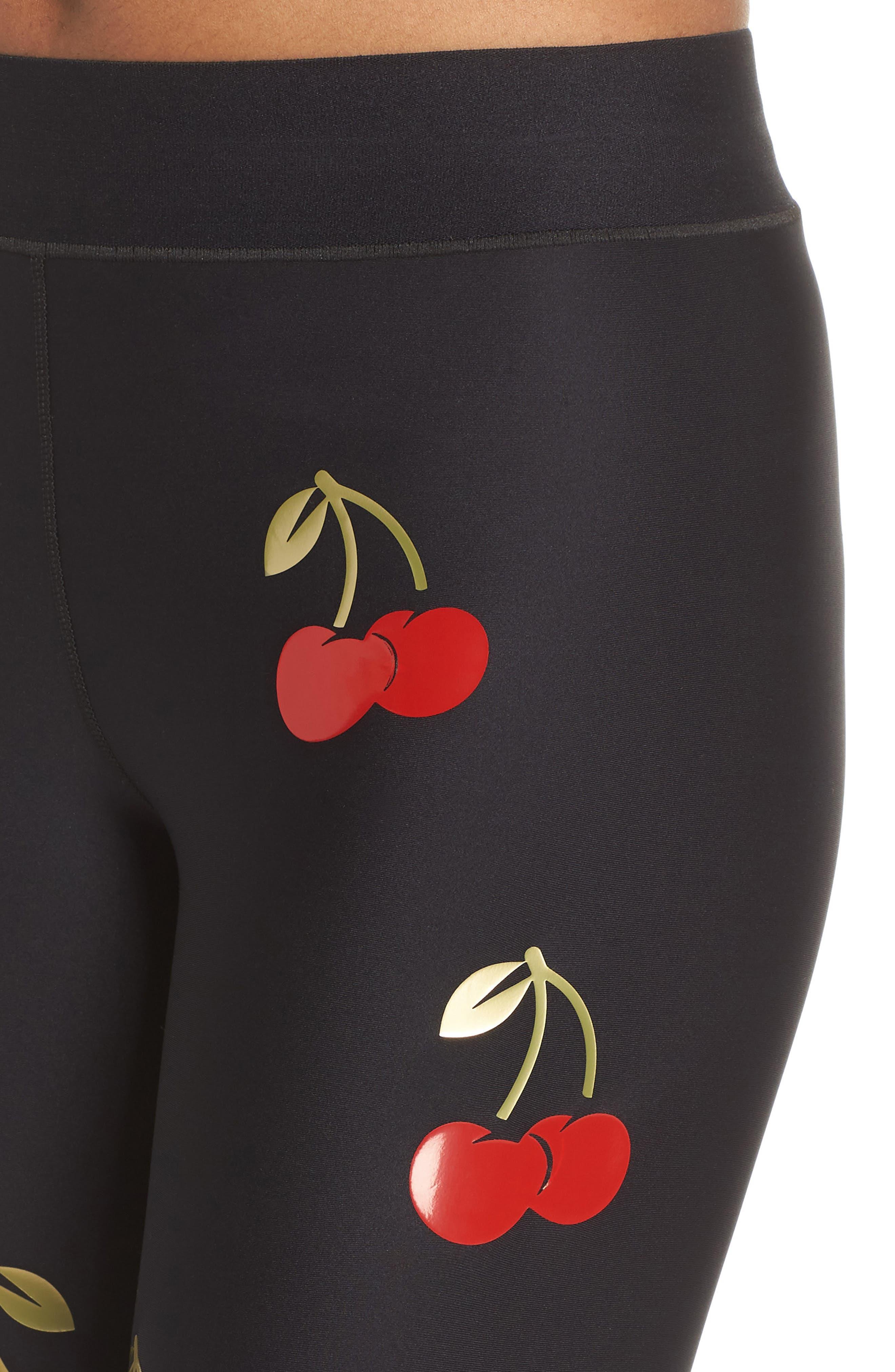 Ultra Cherry Pop Leggings,                             Alternate thumbnail 4, color,                             001