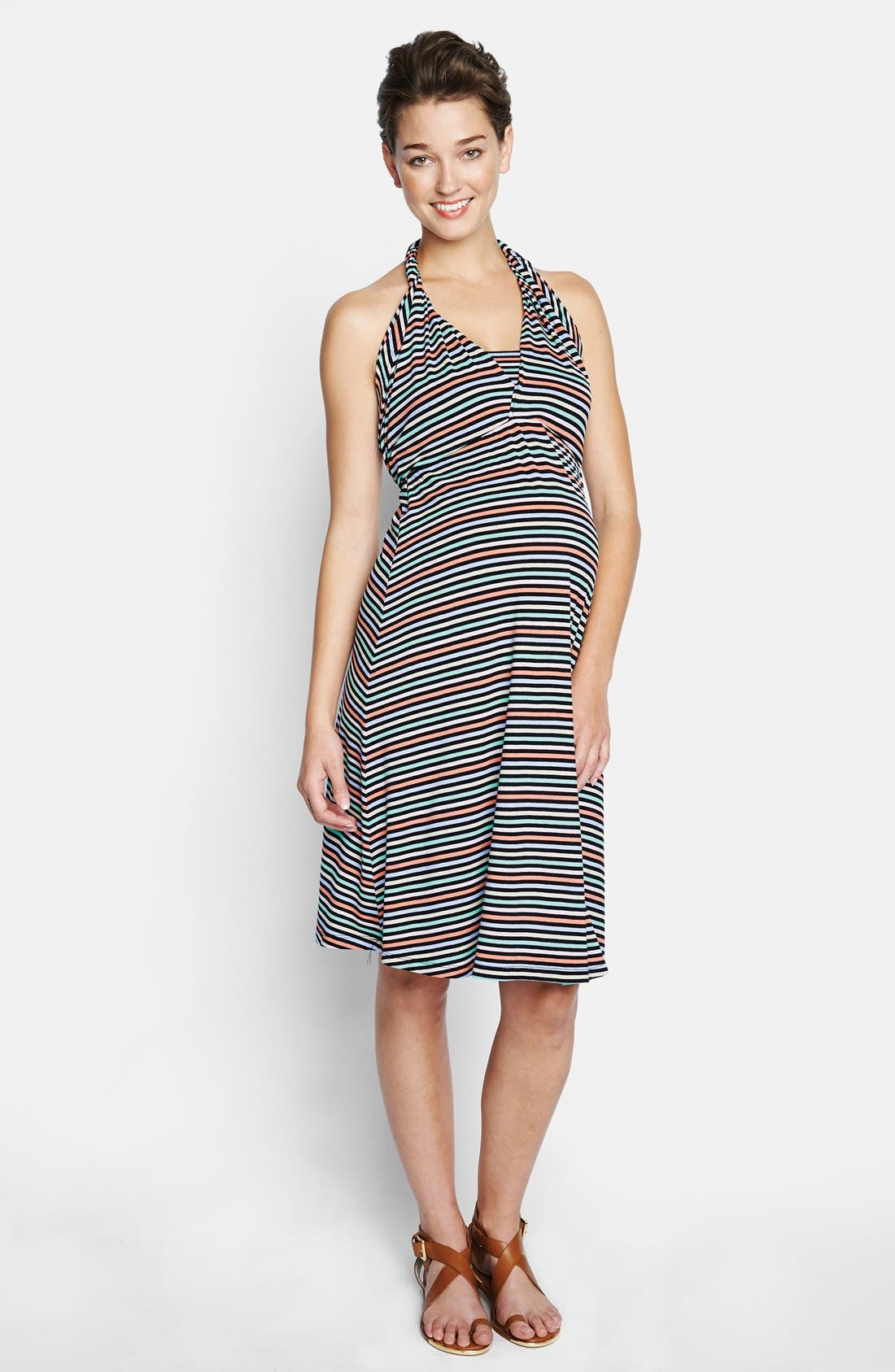 Convertible Maternity Dress,                             Alternate thumbnail 2, color,                             CANDY STRIPES