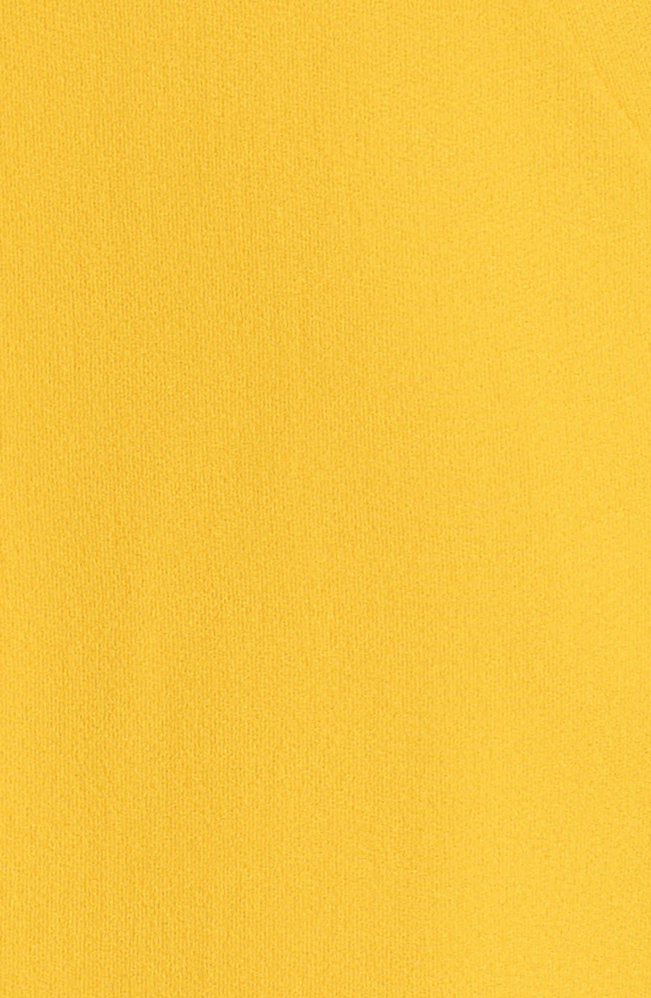 Ruffle Satin Back Crepe Dress,                             Alternate thumbnail 6, color,                             700