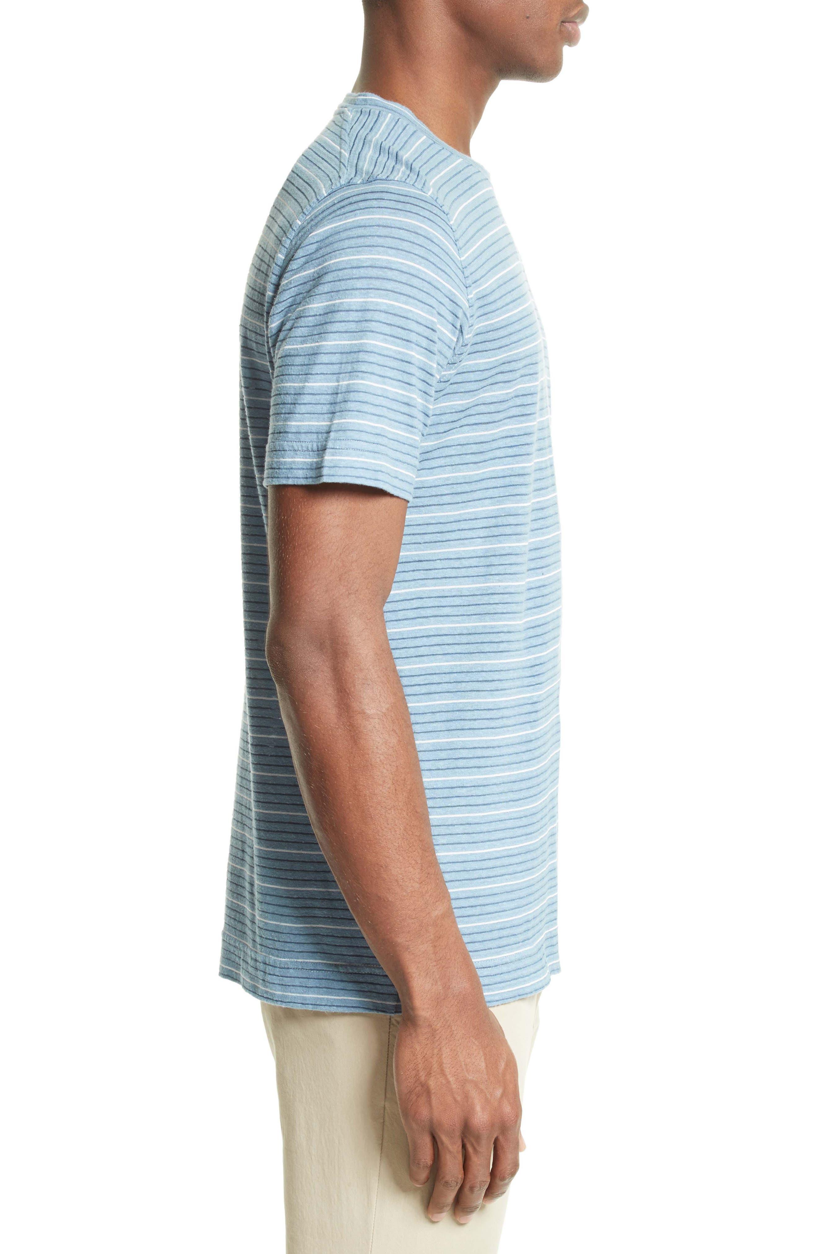 Stripe T-Shirt,                             Alternate thumbnail 3, color,                             100