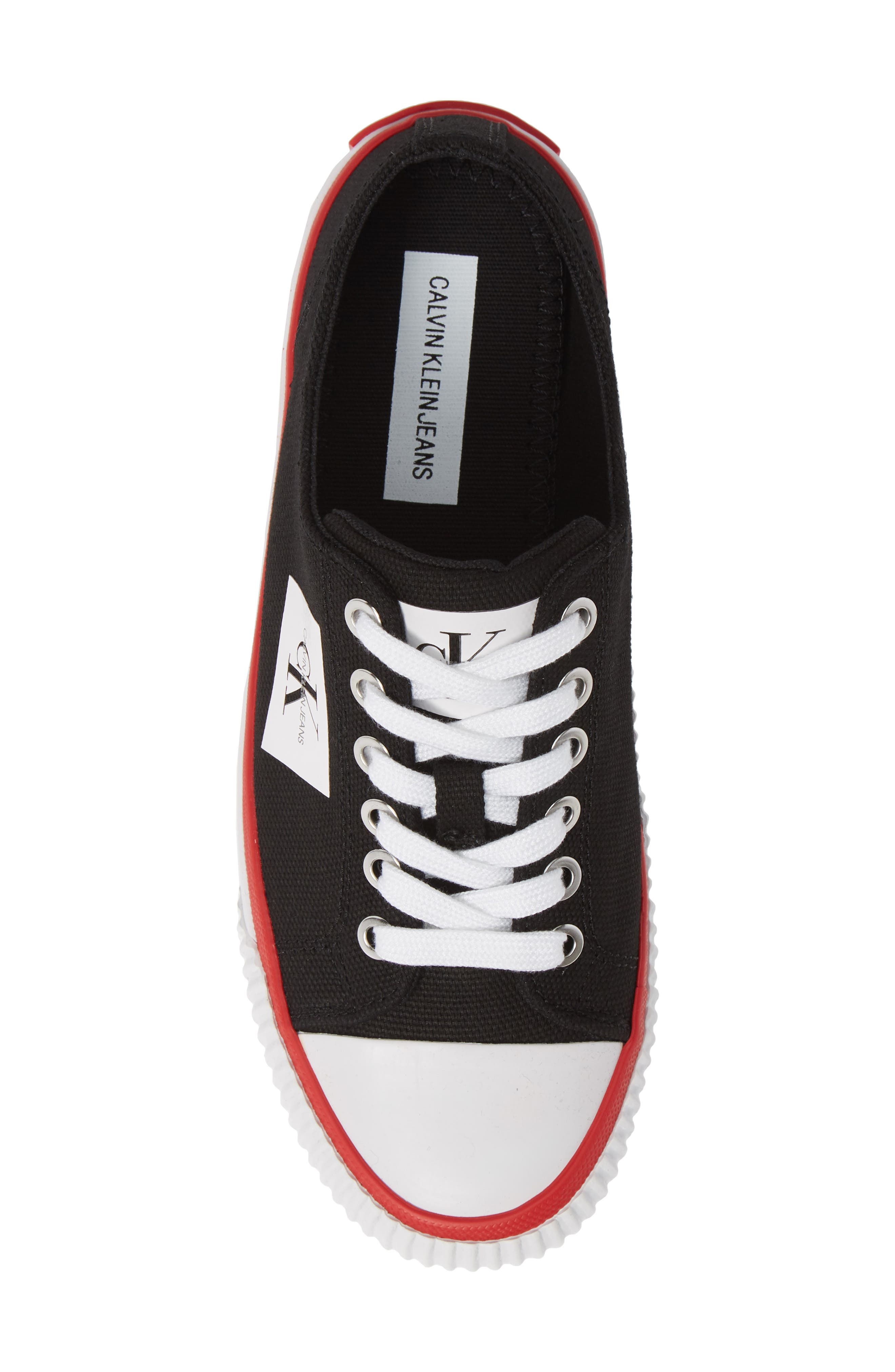 Ivory Lace-Up Sneaker,                             Alternate thumbnail 5, color,                             001