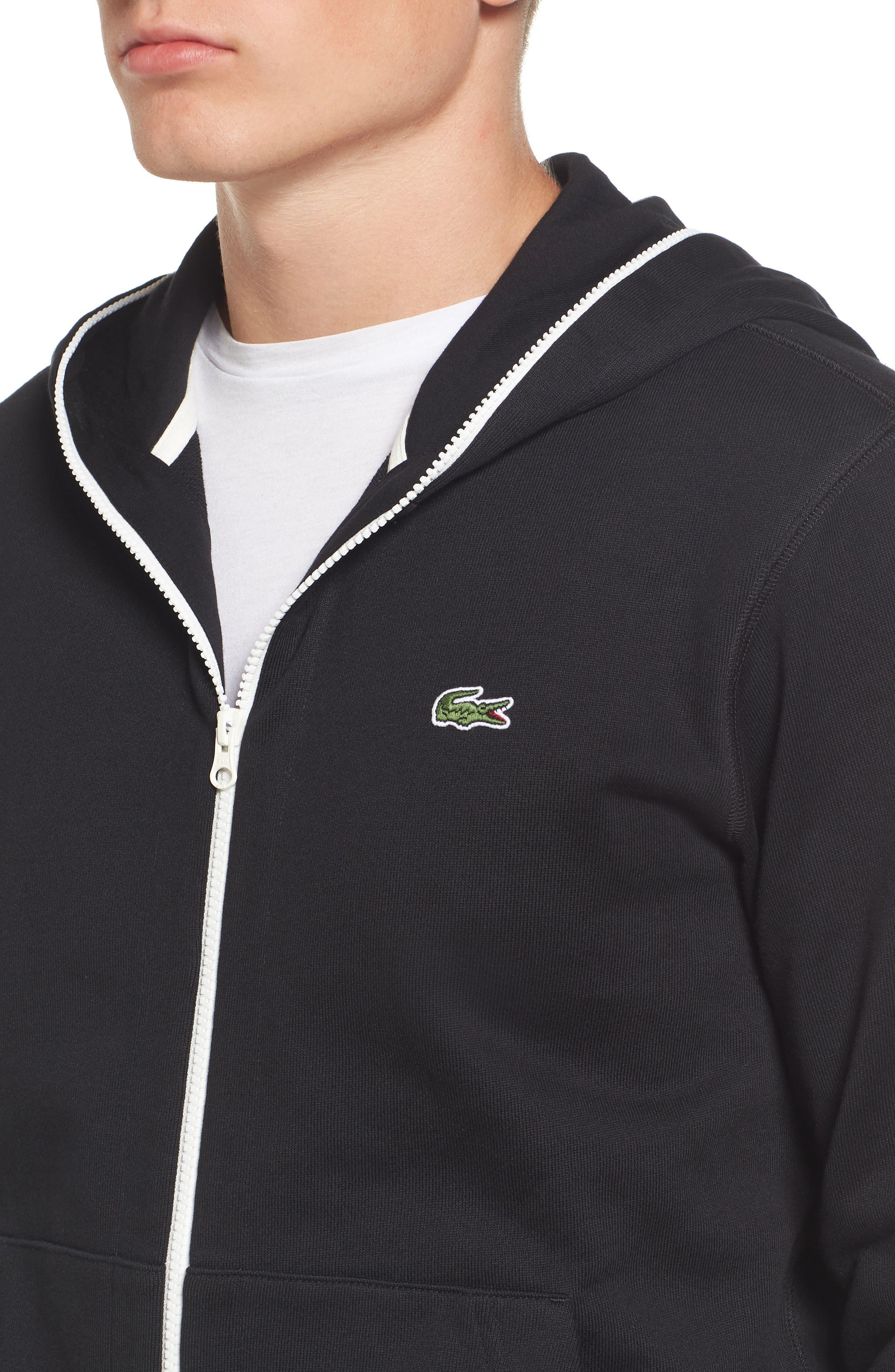 Fleece Zip Sweatshirt,                             Alternate thumbnail 4, color,                             001