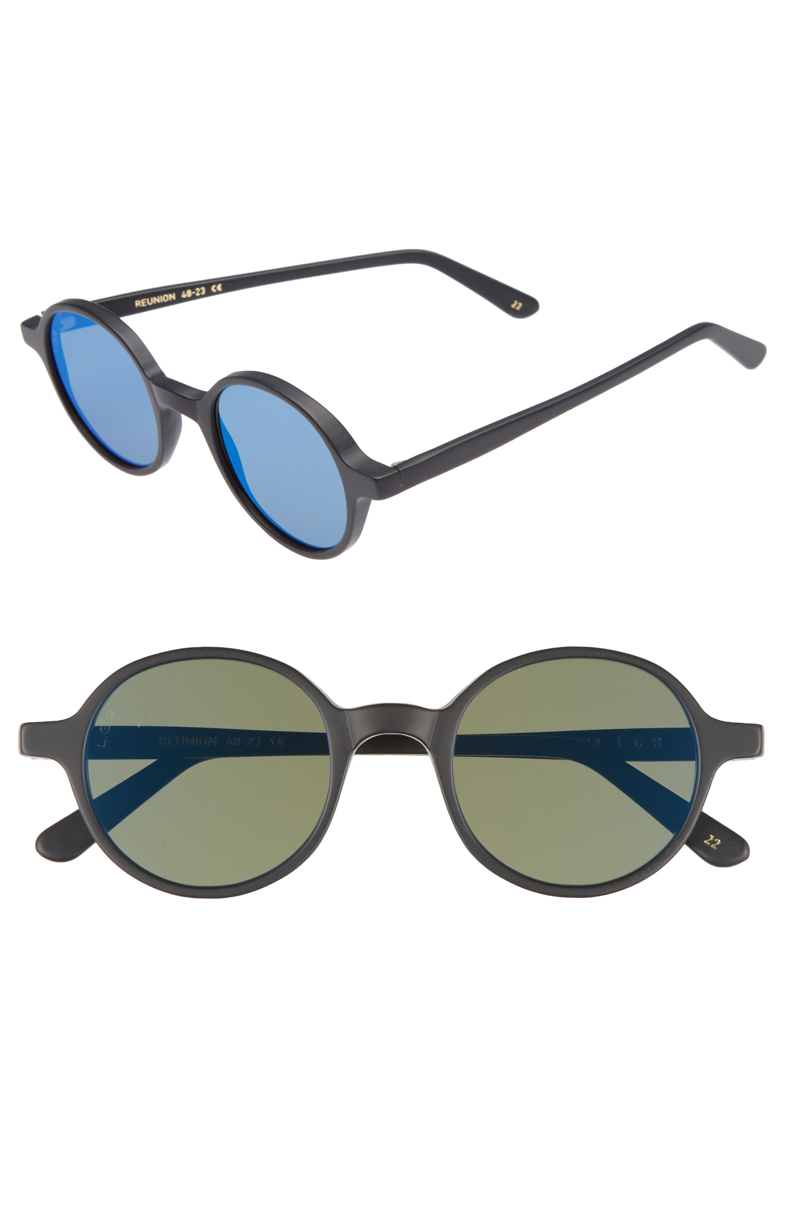 Reunion 48mm Sunglasses,                         Main,                         color, 001