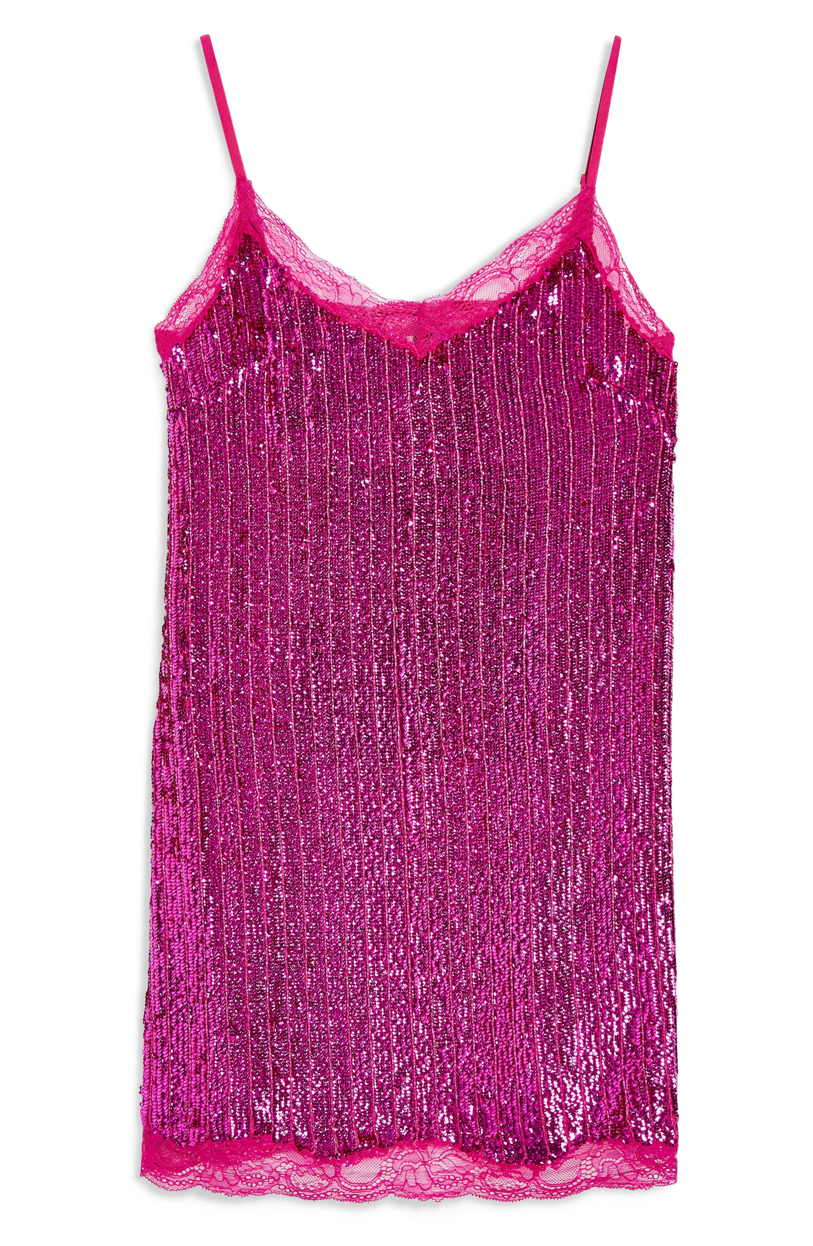 Sequin Slipdress,                             Alternate thumbnail 3, color,                             PINK