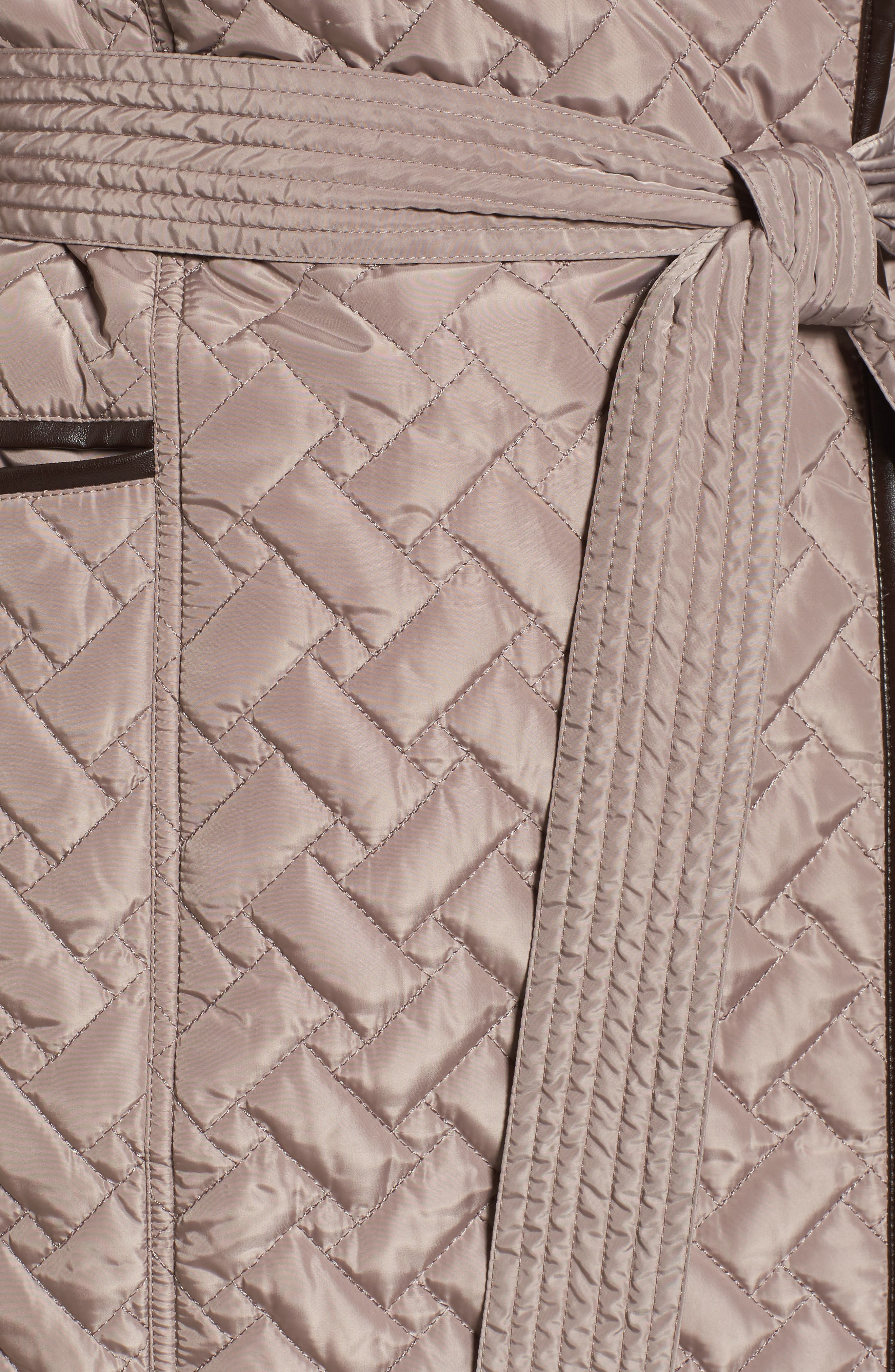 Water Resistant Quilted Wrap Coat,                             Alternate thumbnail 6, color,                             284